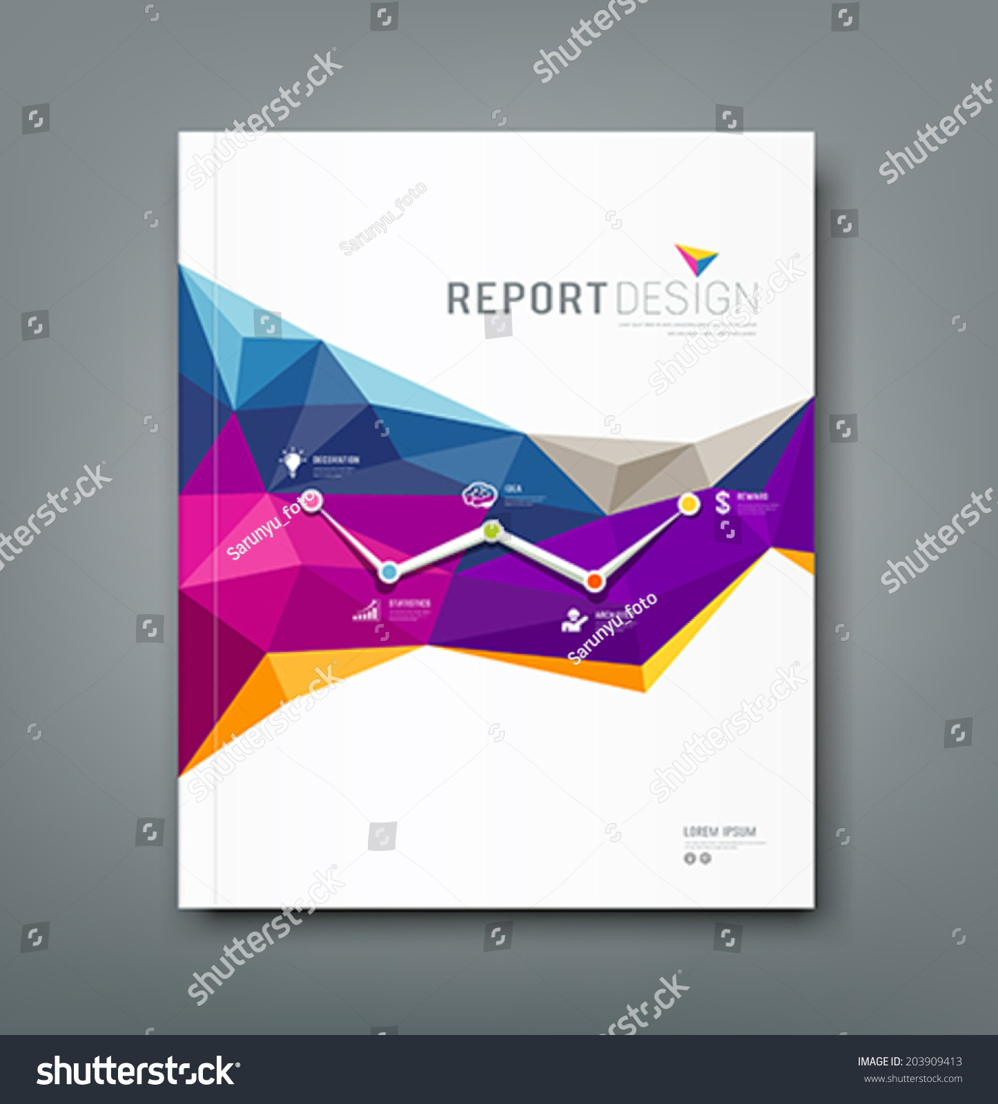 report cover laveyla com cover report colorful geometric shapes infographic stock vector