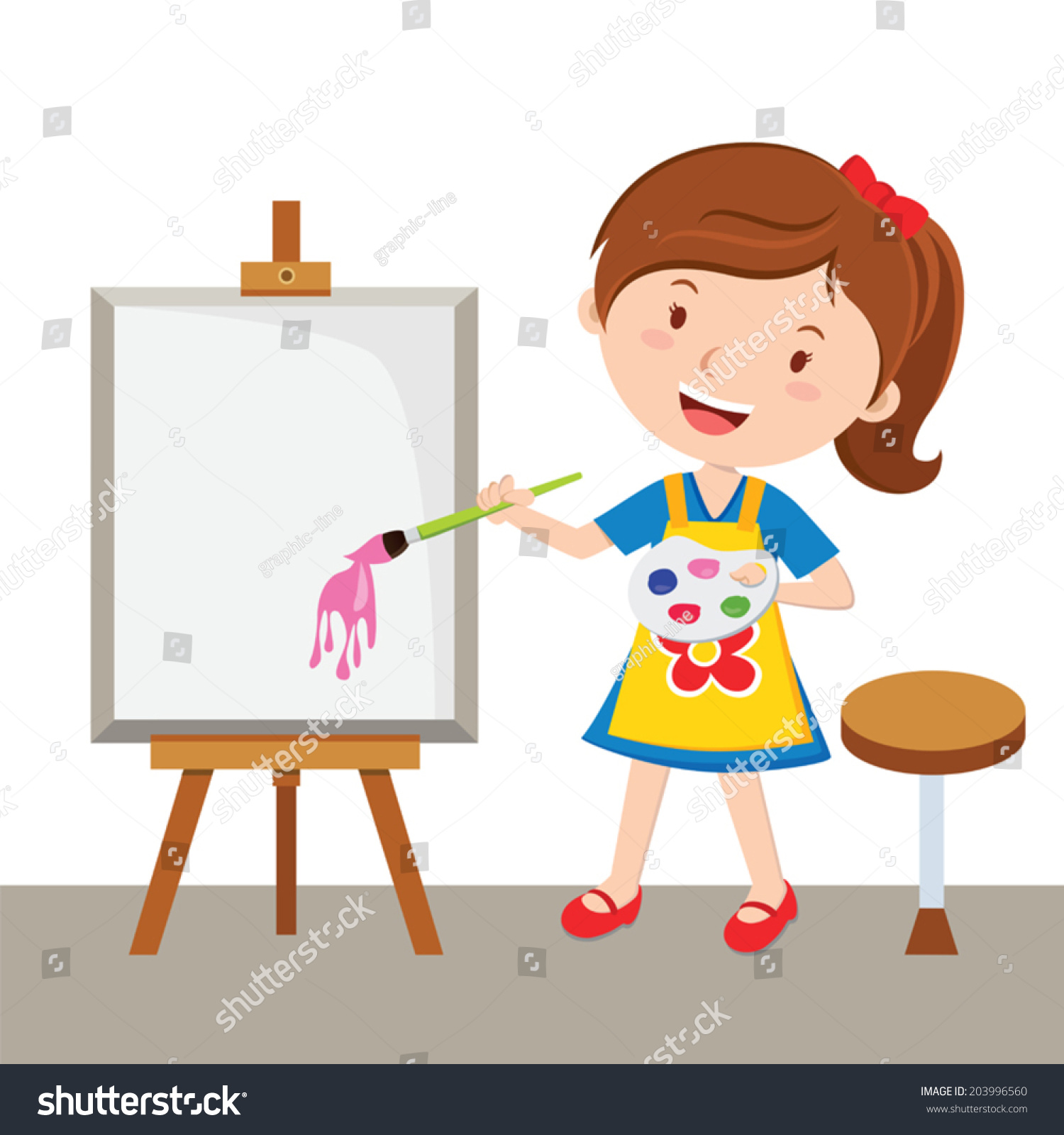 Artist Girl Clip Art,Search Cliparts images