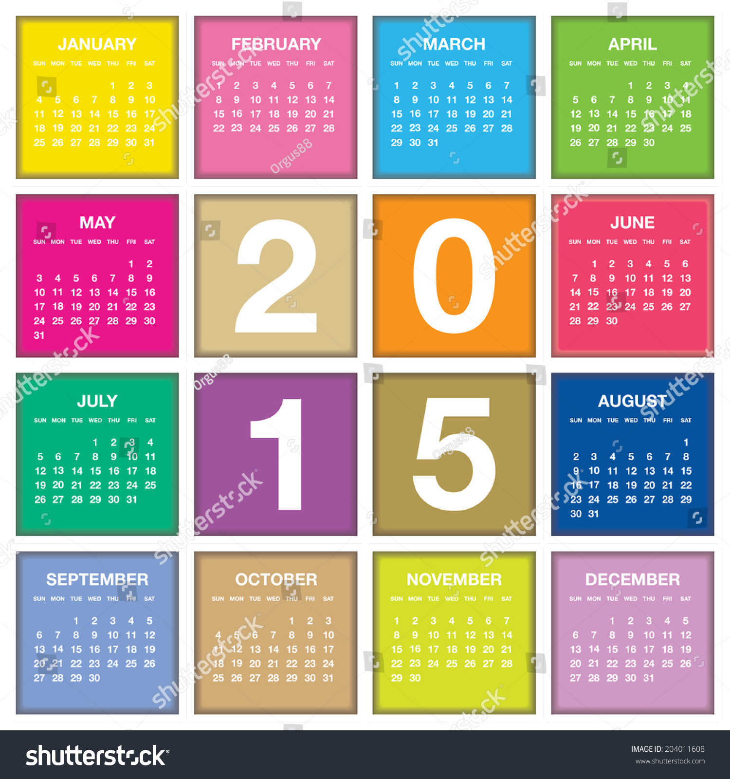 Year Calendar Vector : Royalty free year vector calendar …