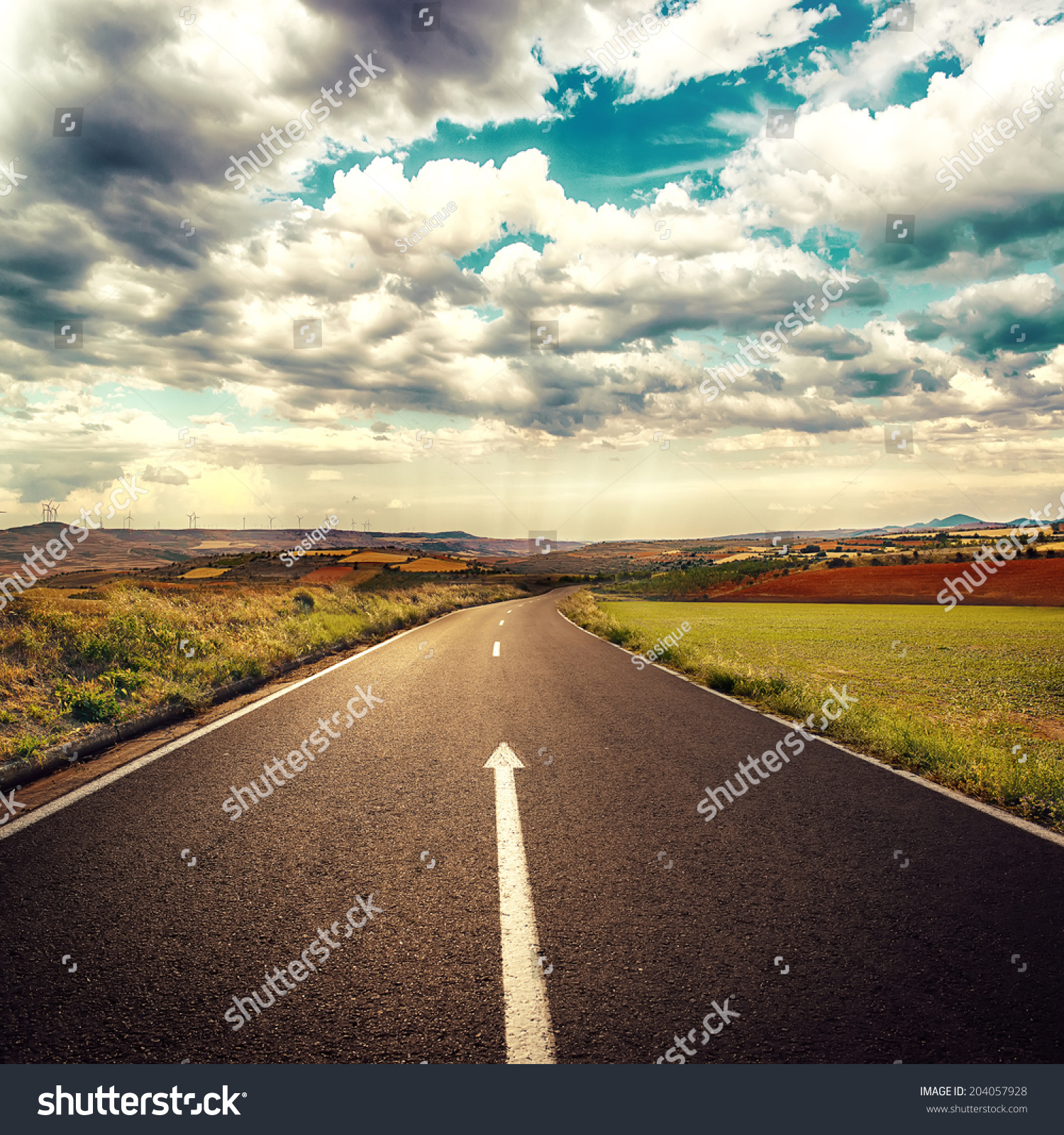 concept straight way business new career stock photo  concept of straight way for business and new career start asphalt road over cloudscape background