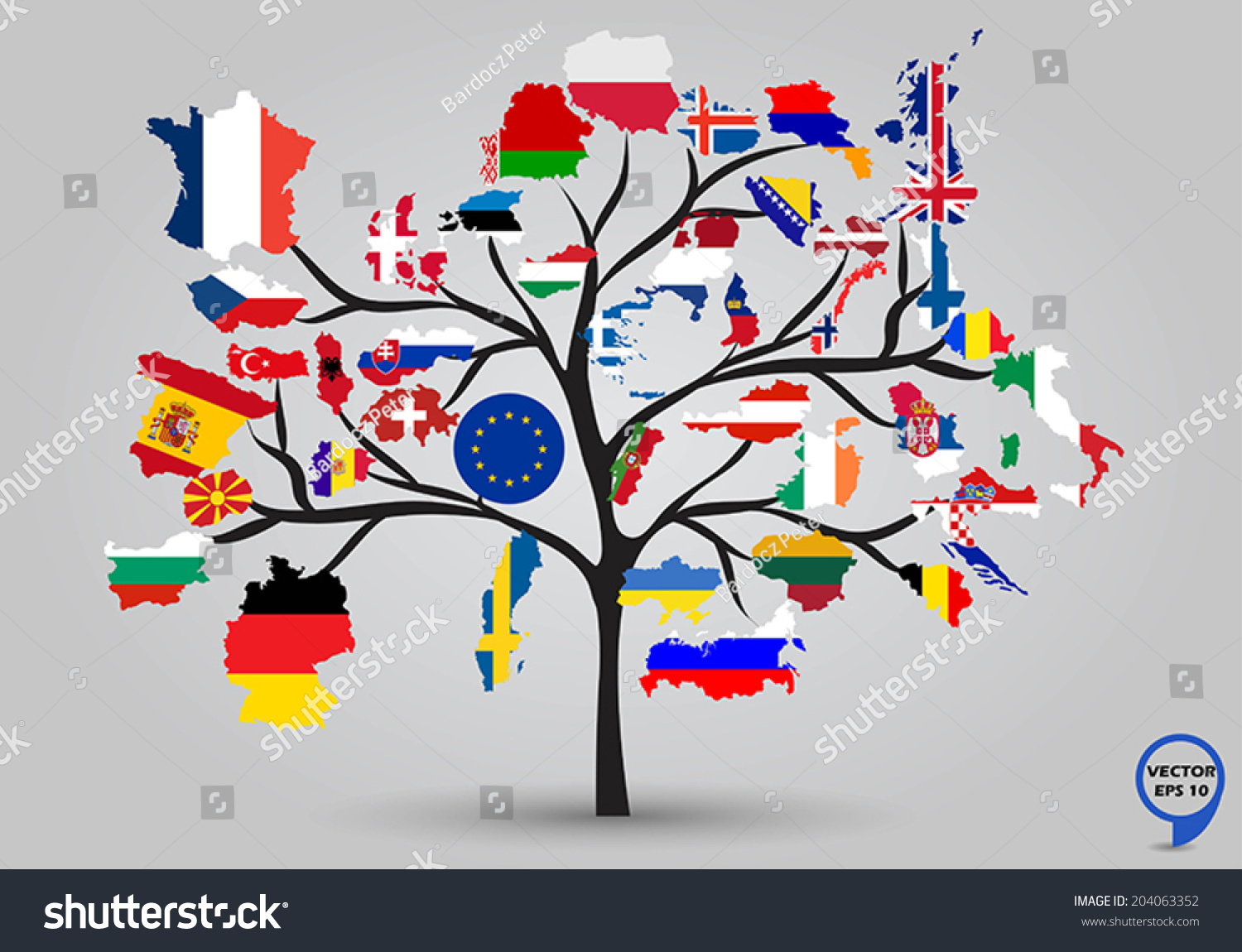 vector illustration of europe - photo #47