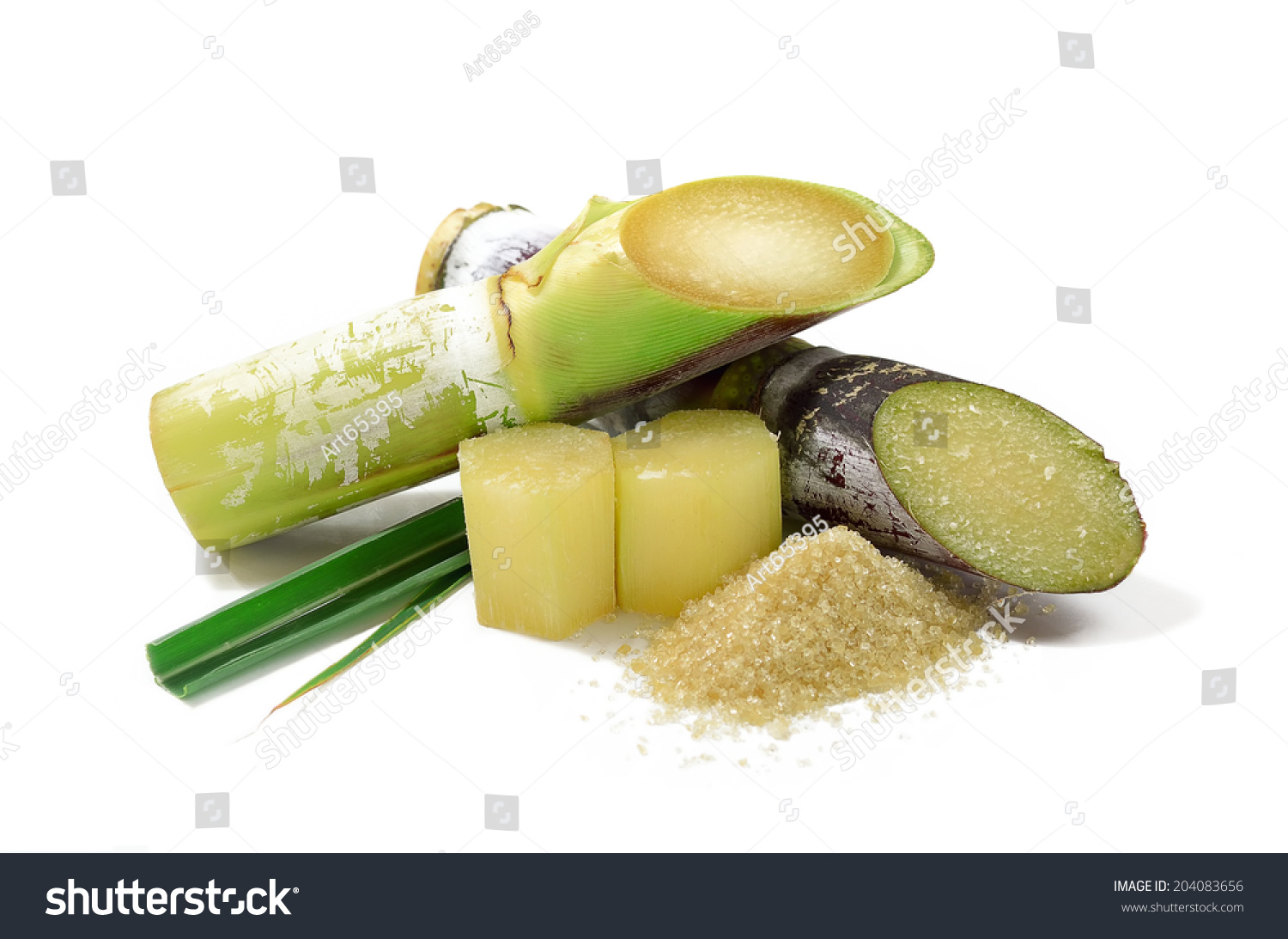 Sugar cane isolated on white background #204083656