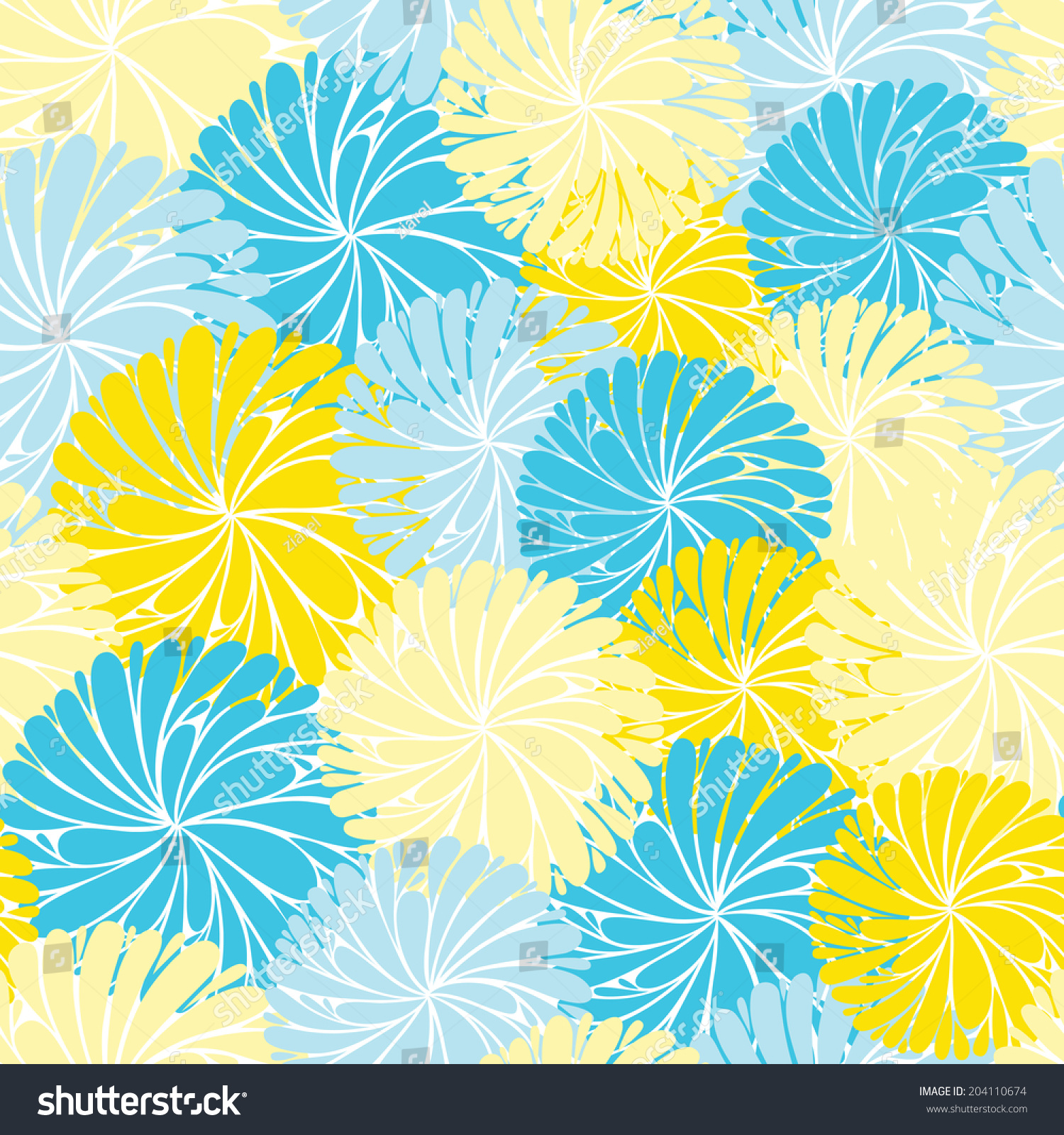 Abstract Vector Sweet Floral Seamless Wallpaper Background