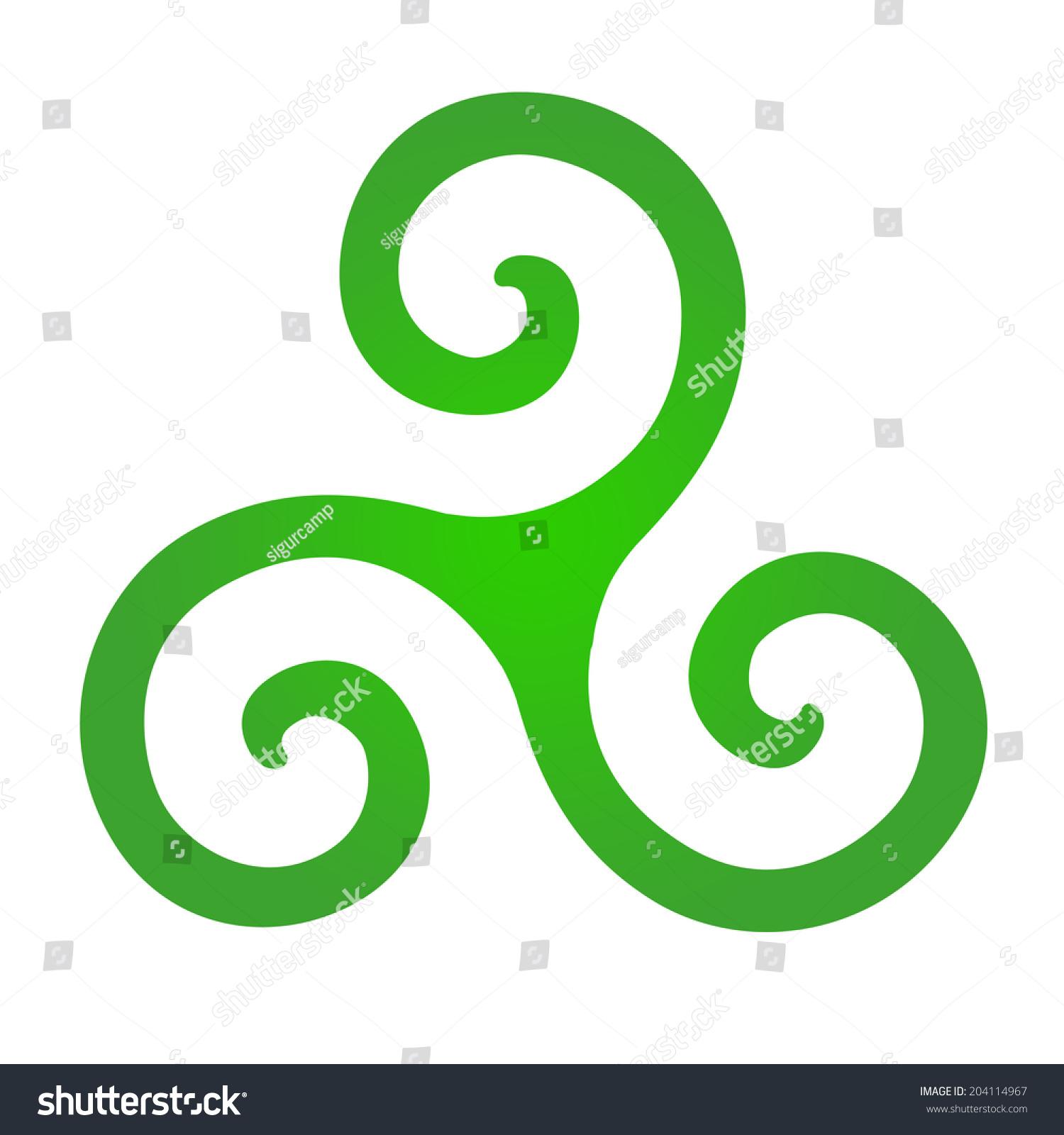 Celtic symbol known triskell triskelion isolated stock celtic symbol also known as triskell or triskelion isolated on white background buycottarizona Images