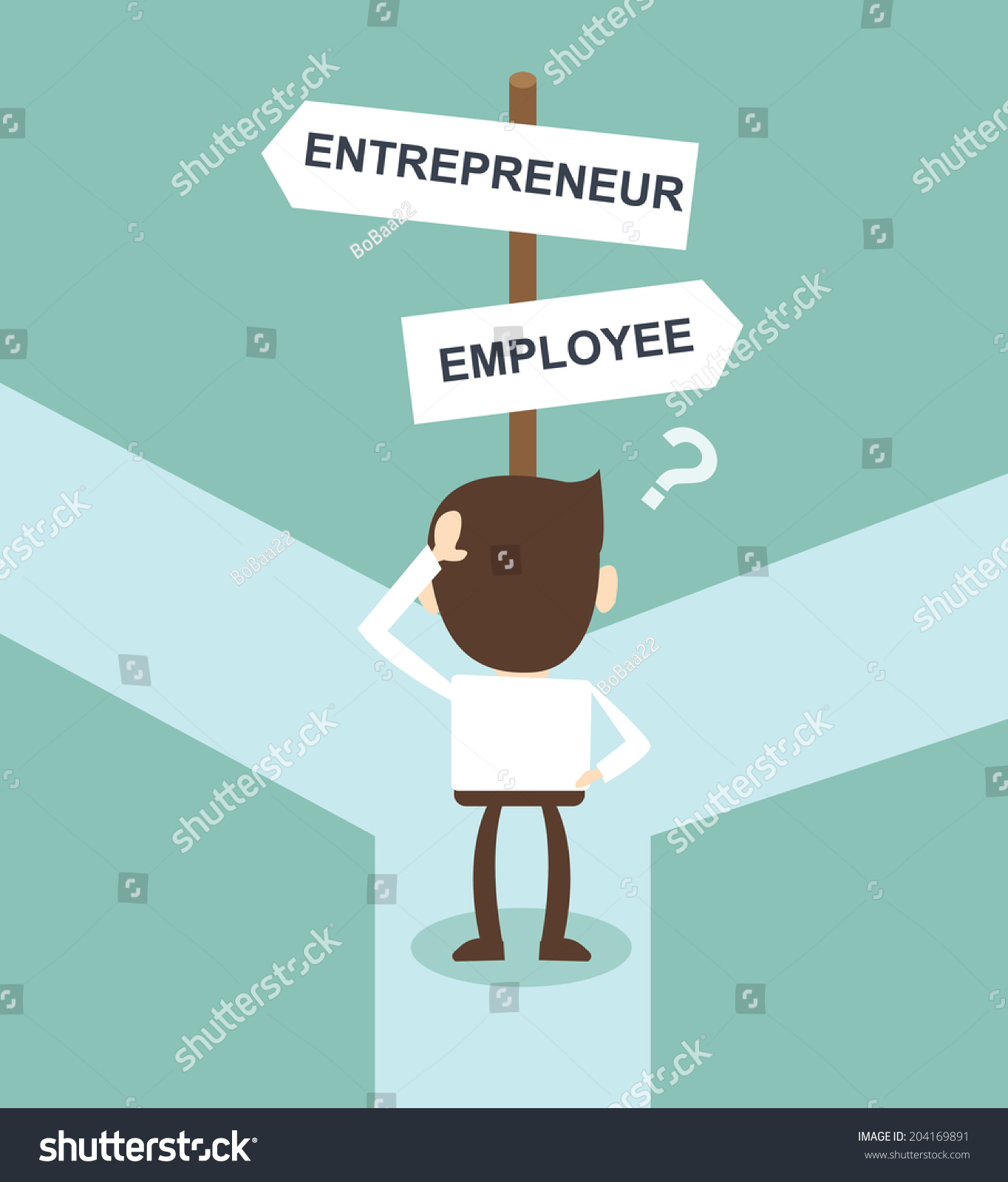 change career directions employee entrepreneur street stock vector change career directions employee entrepreneur street direction sign