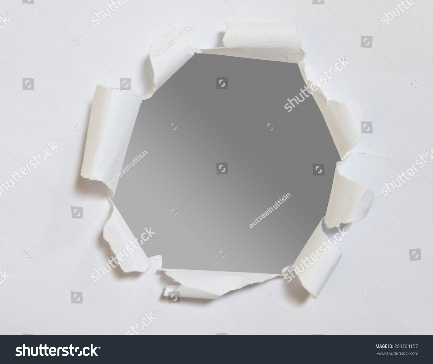 Black Hole On White Paper Stock Photo 204204157 : Shutterstock