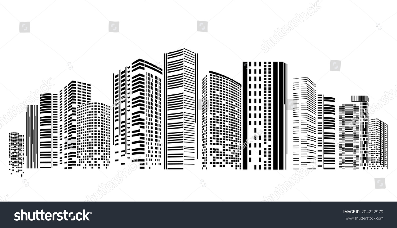 Vector design eps10 building city illustration stock for Building design images