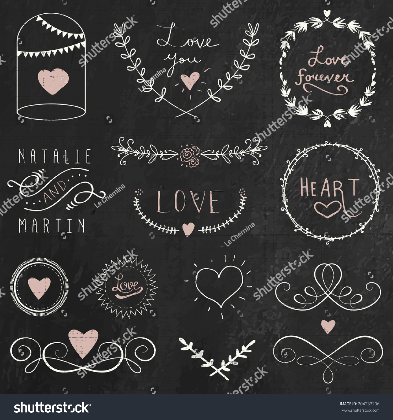 chalkboard doodle hand drawn graphic flower stock vector royalty