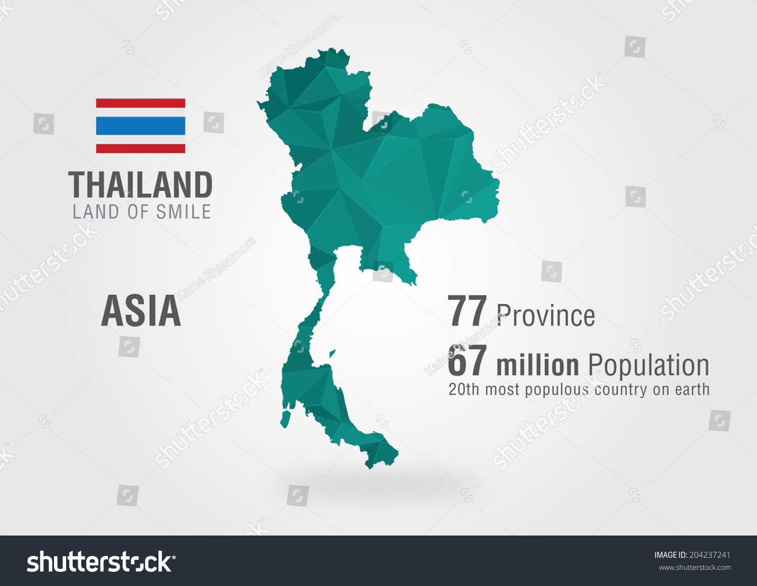 Thailand World Map Thai Map Pixel Stock Vector (Royalty Free