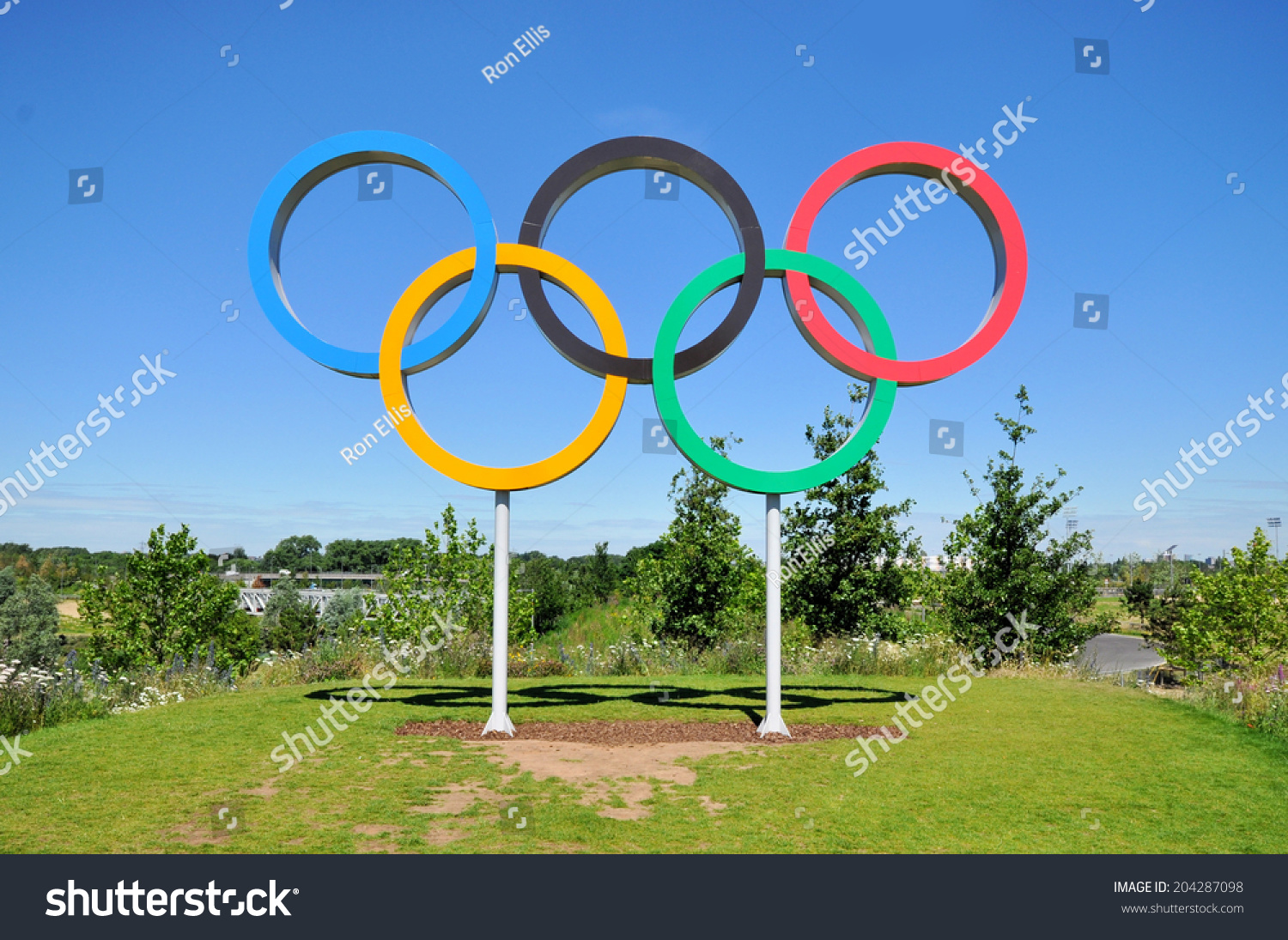 London July 3 Olympic Games Symbol Stock Photo Edit Now 204287098