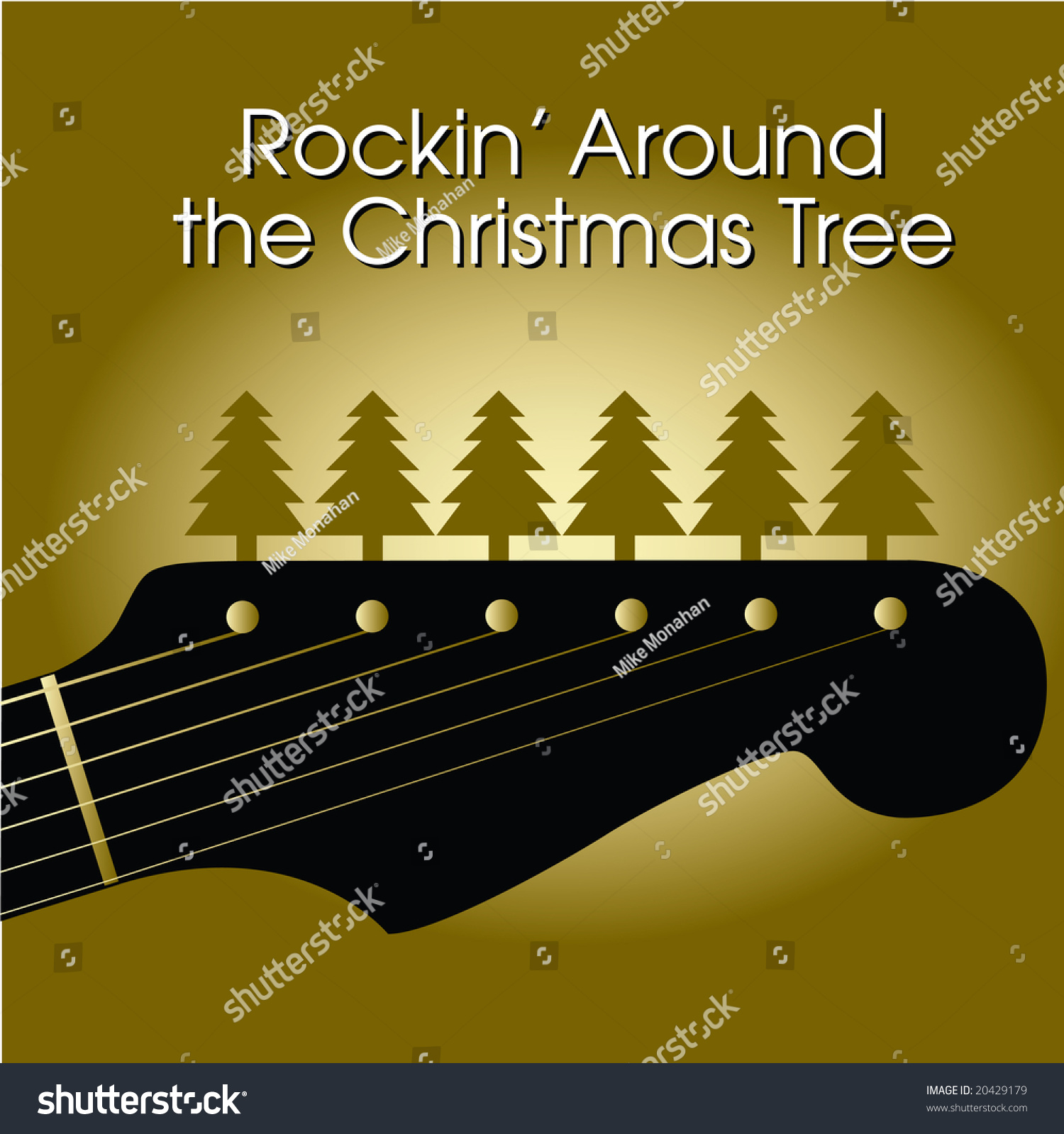 Rockin around christmas tree stock illustration 20429179 for Around the tree