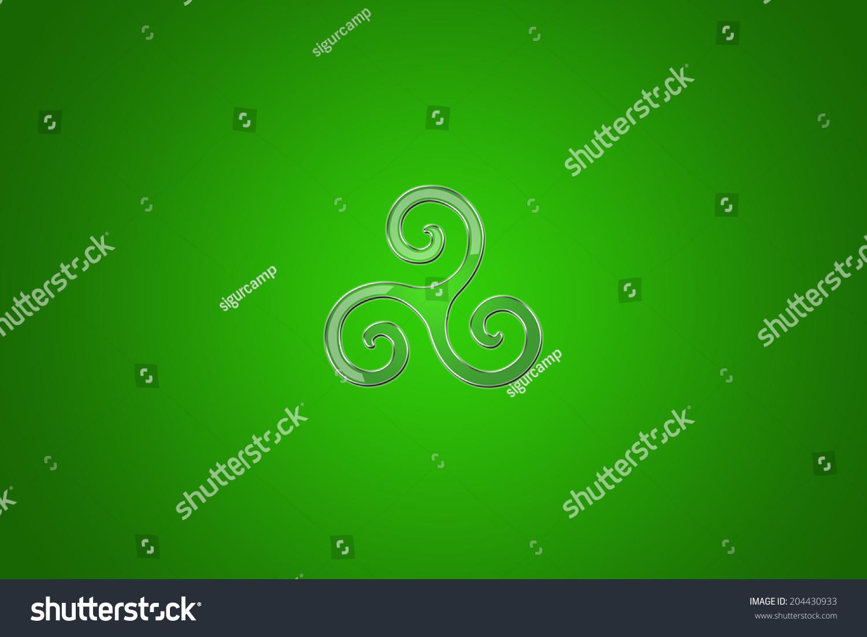 Celtic Background Triskel Symbol Stock Illustration 204430933