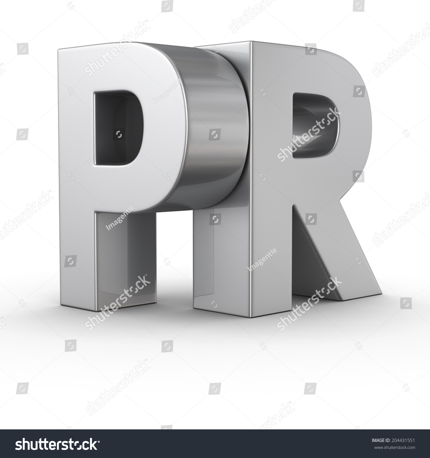 Big Metal Letters Pr On White Background Stock Photo 204431551 ...
