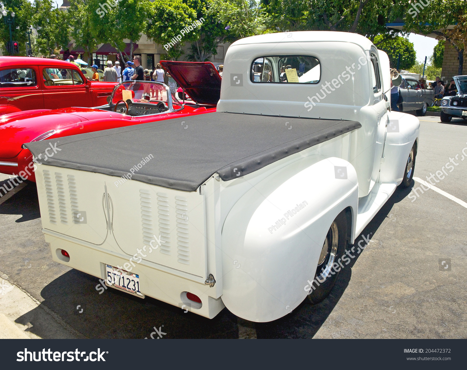 Montrosecalifornia July 6 2014 1948 Ford Stock Photo Edit Now Pickup Hot Rod Montrose California F1 Pick Up Owned By