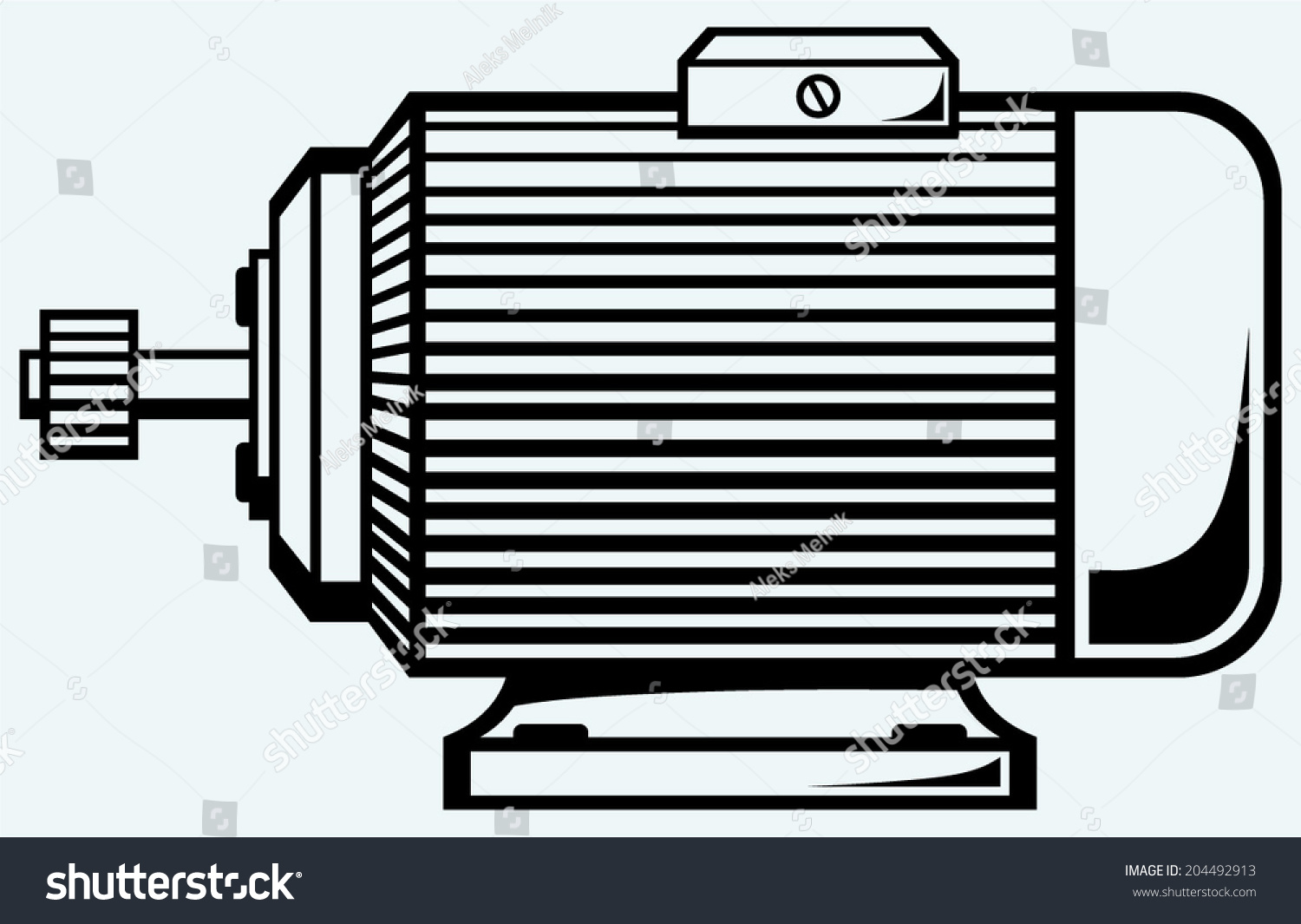 Electric motor image isolated on blue stock vector for Castellano electric motors inc