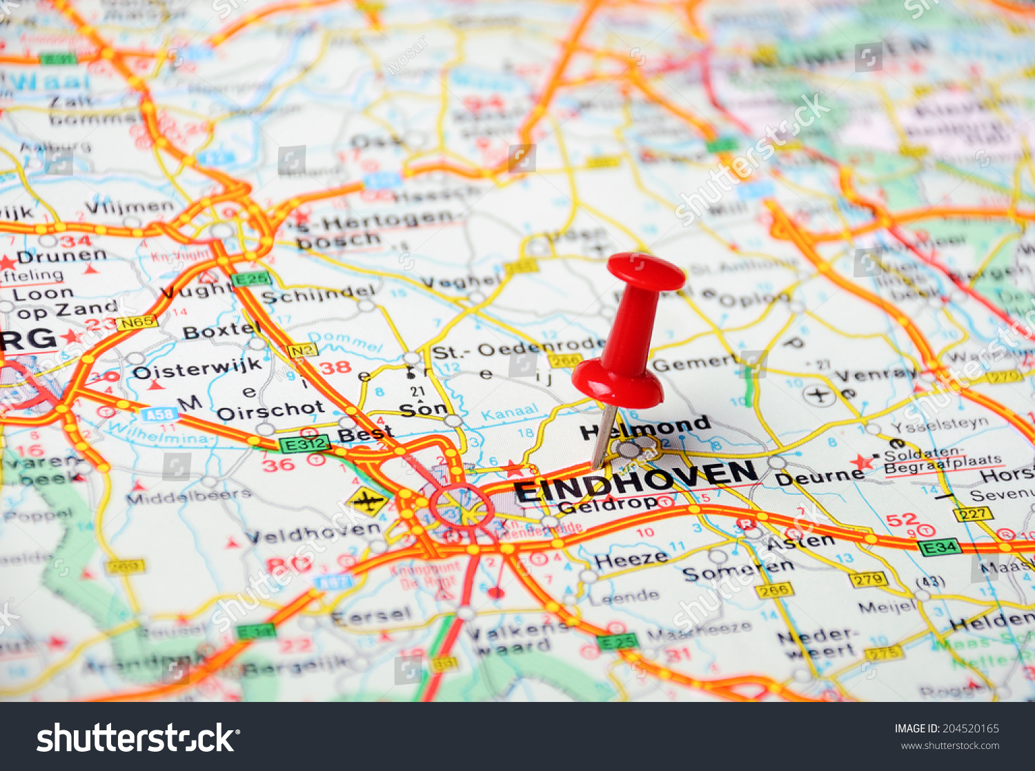 Netherlands Elevation Map%0A Netherlands Map Eindhoven Helmond Netherlands Map Netherlands Map Eindhoven  Close up of Eindhoven Netherlands map with