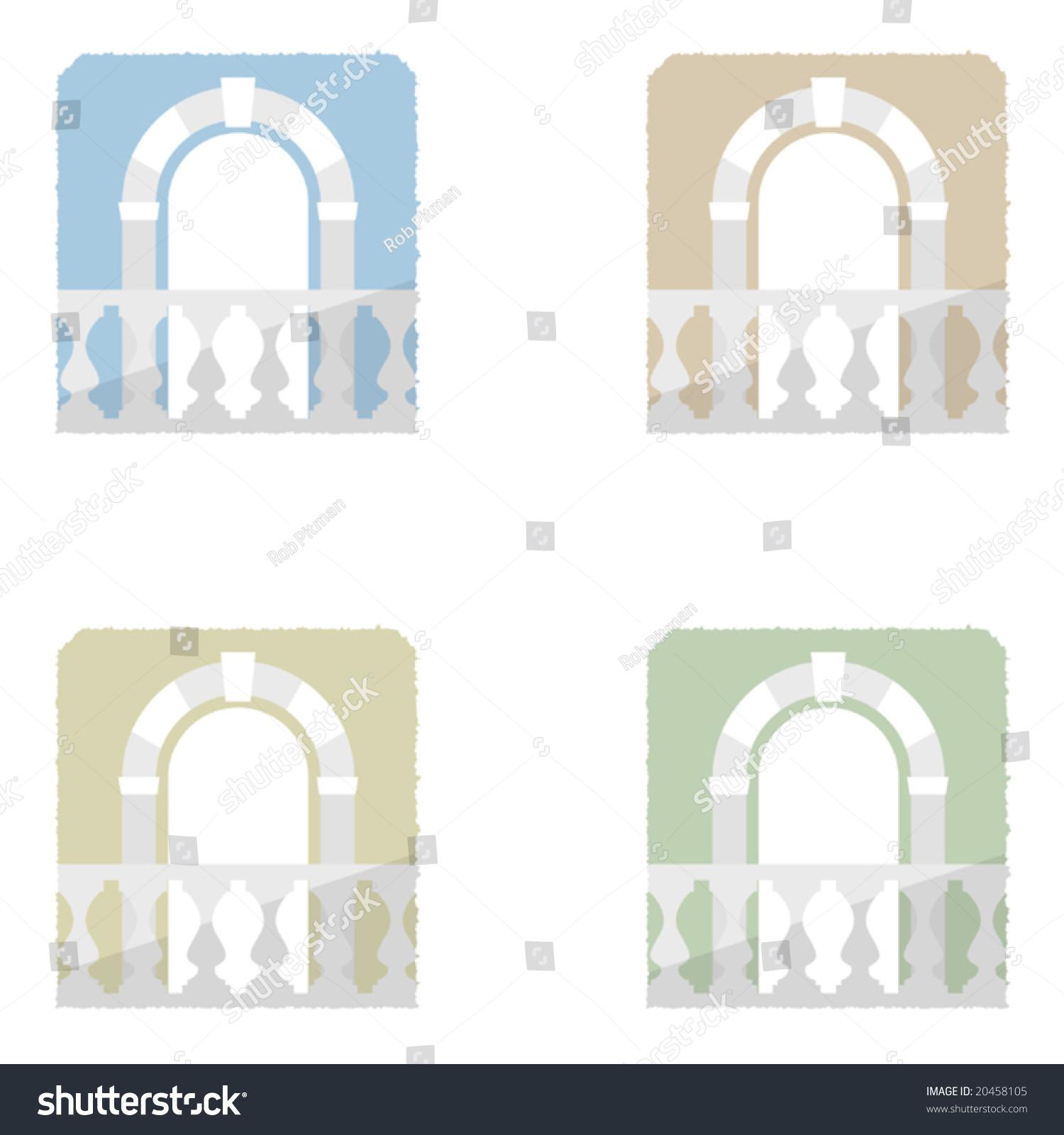Vector doorway and balcony element 20458105 shutterstock for Balcony vector