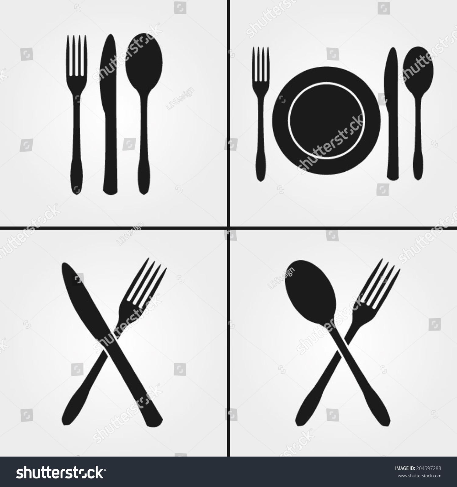 Cutlery restaurant icons stock vector shutterstock