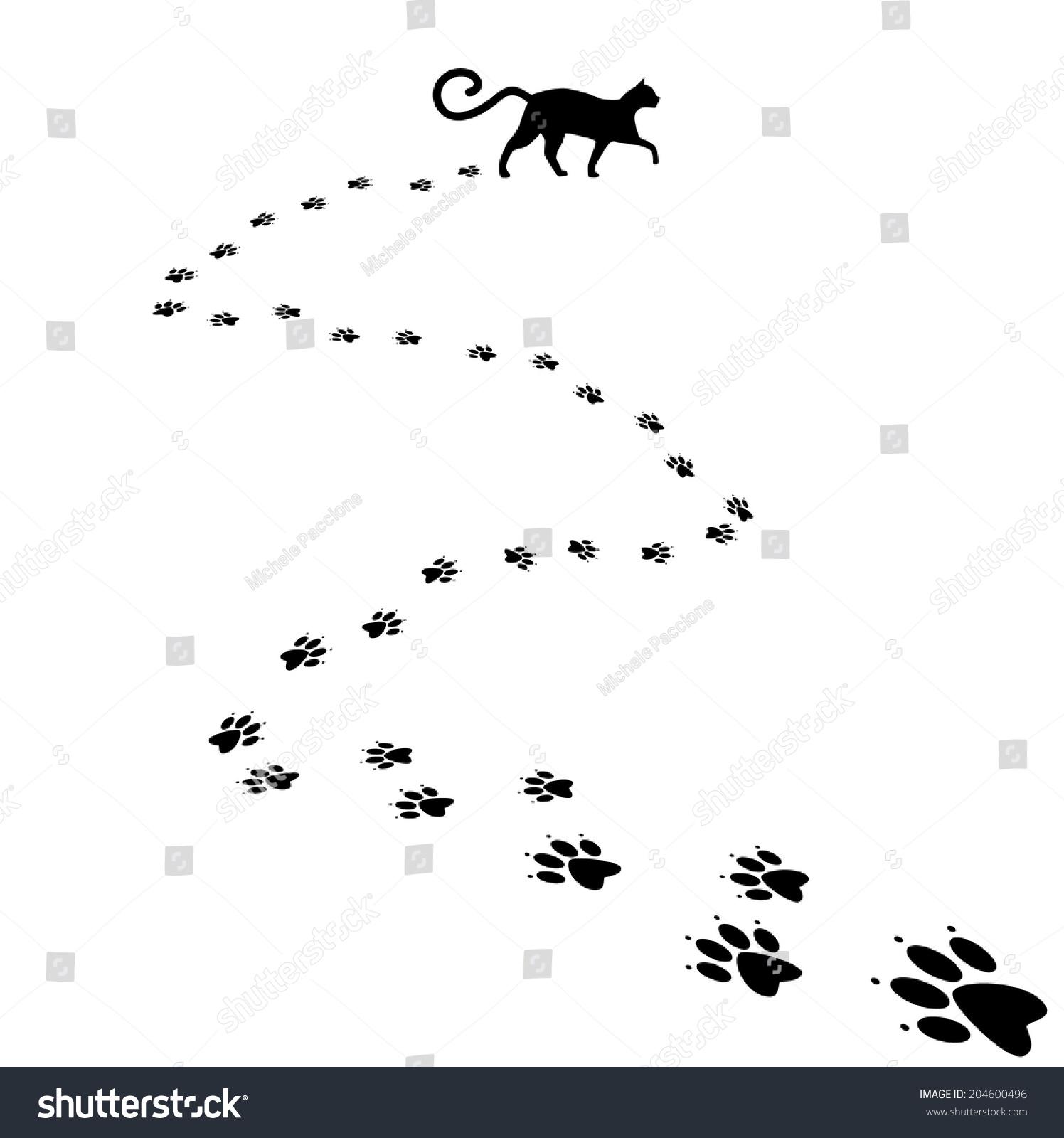 Cat paw print background