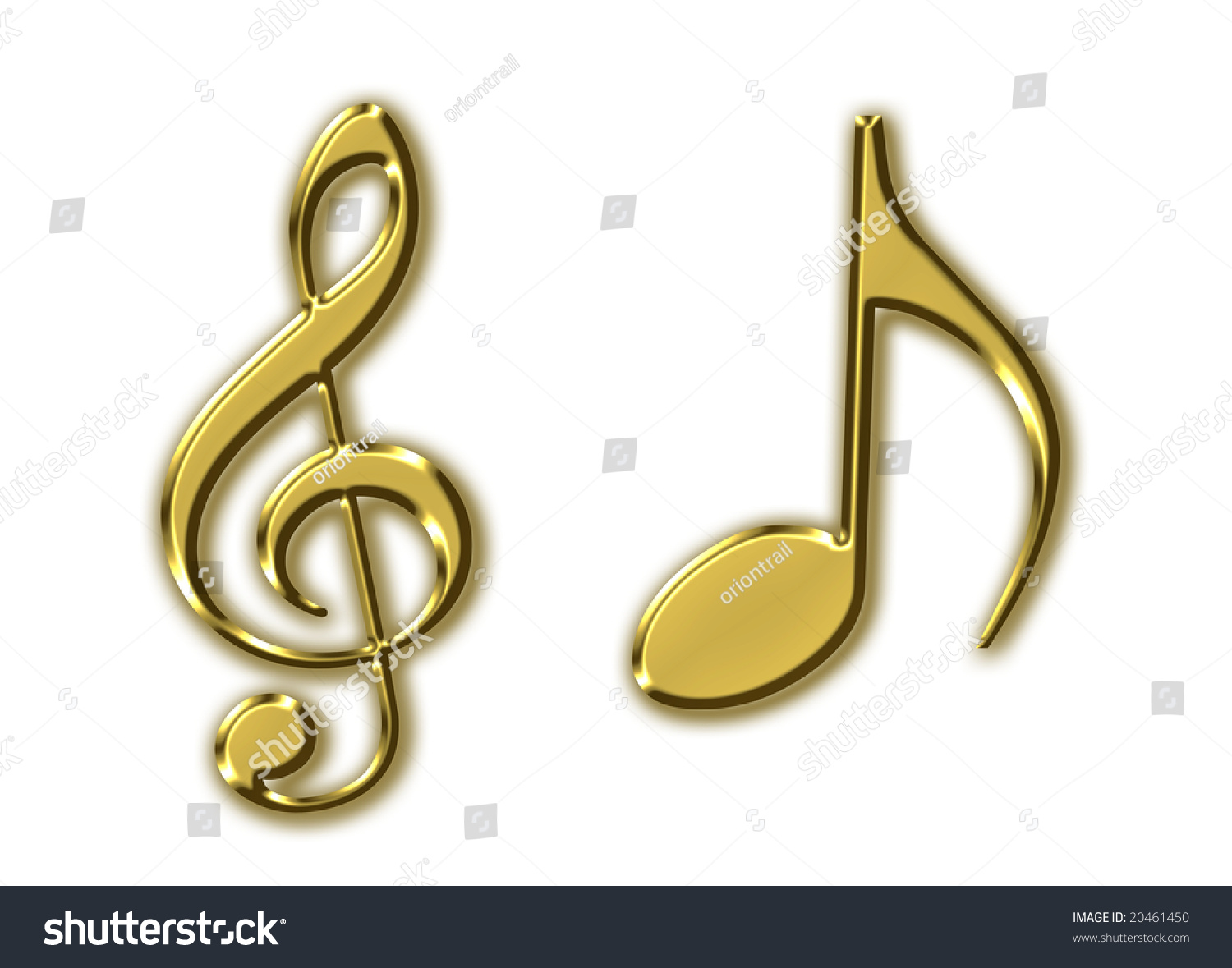 Golden Music Signs Stock Illustration 20461450 - Shutterstock