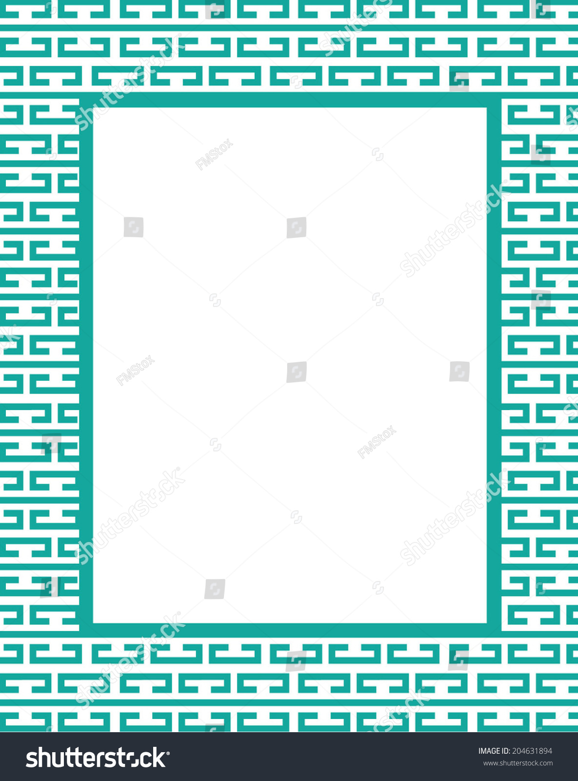 Vector Bracket Pattern Frame Invitation Set Stock Photo (Photo ...