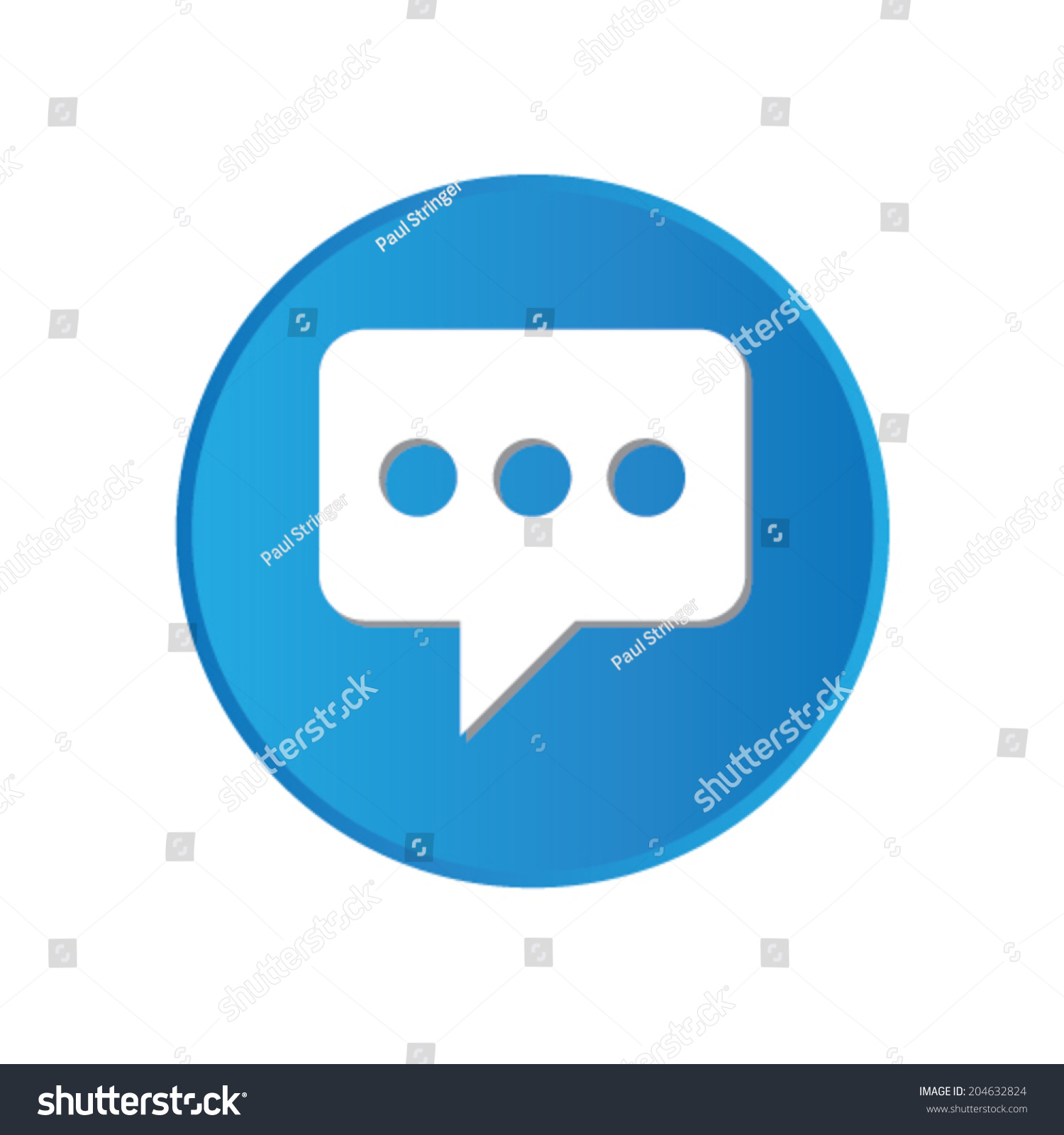 Colorful Square Buttons Website App Speech Stock Vector