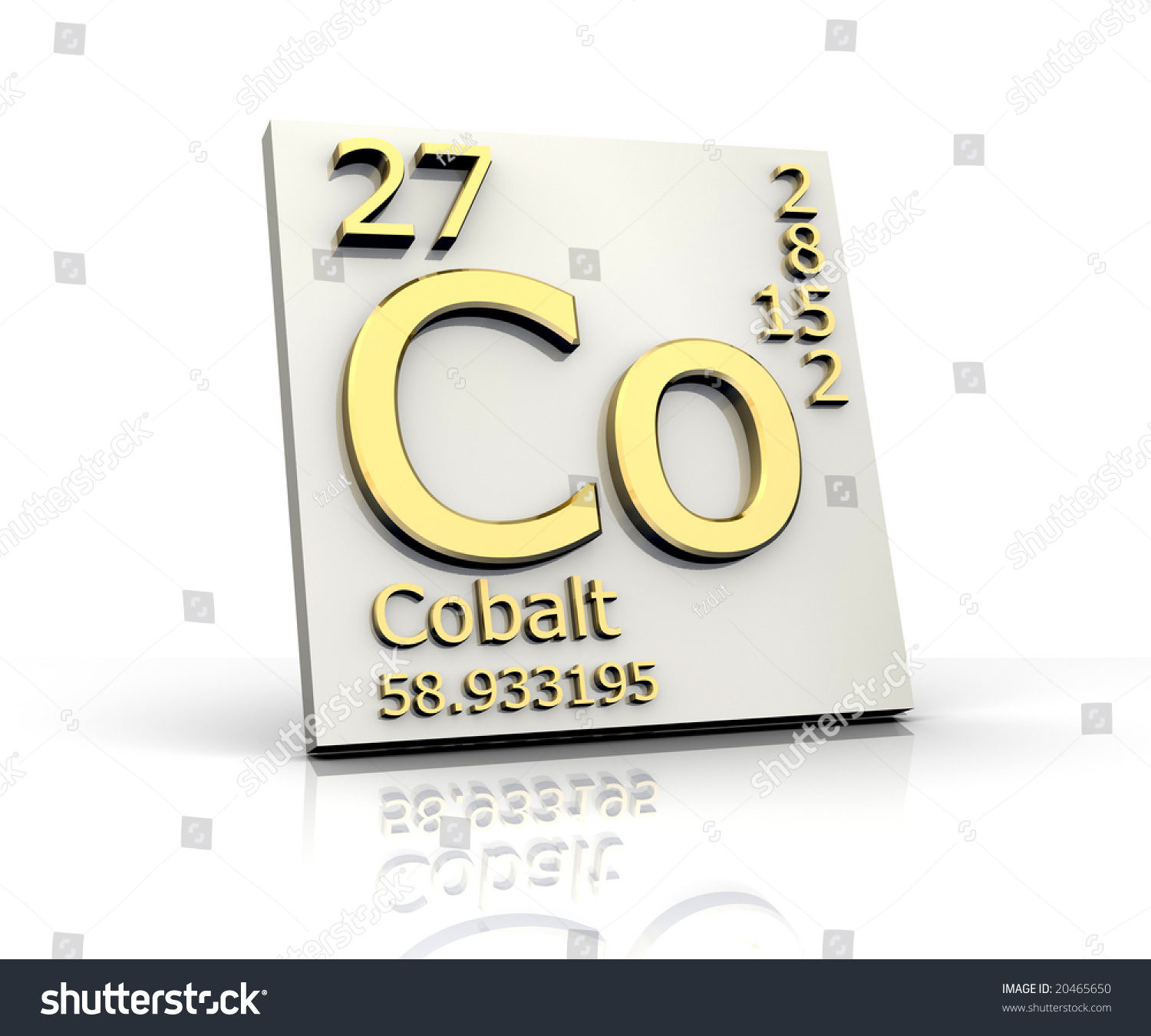 Cobalt form periodic table elements stock illustration 20465650 cobalt form periodic table of elements gamestrikefo Gallery