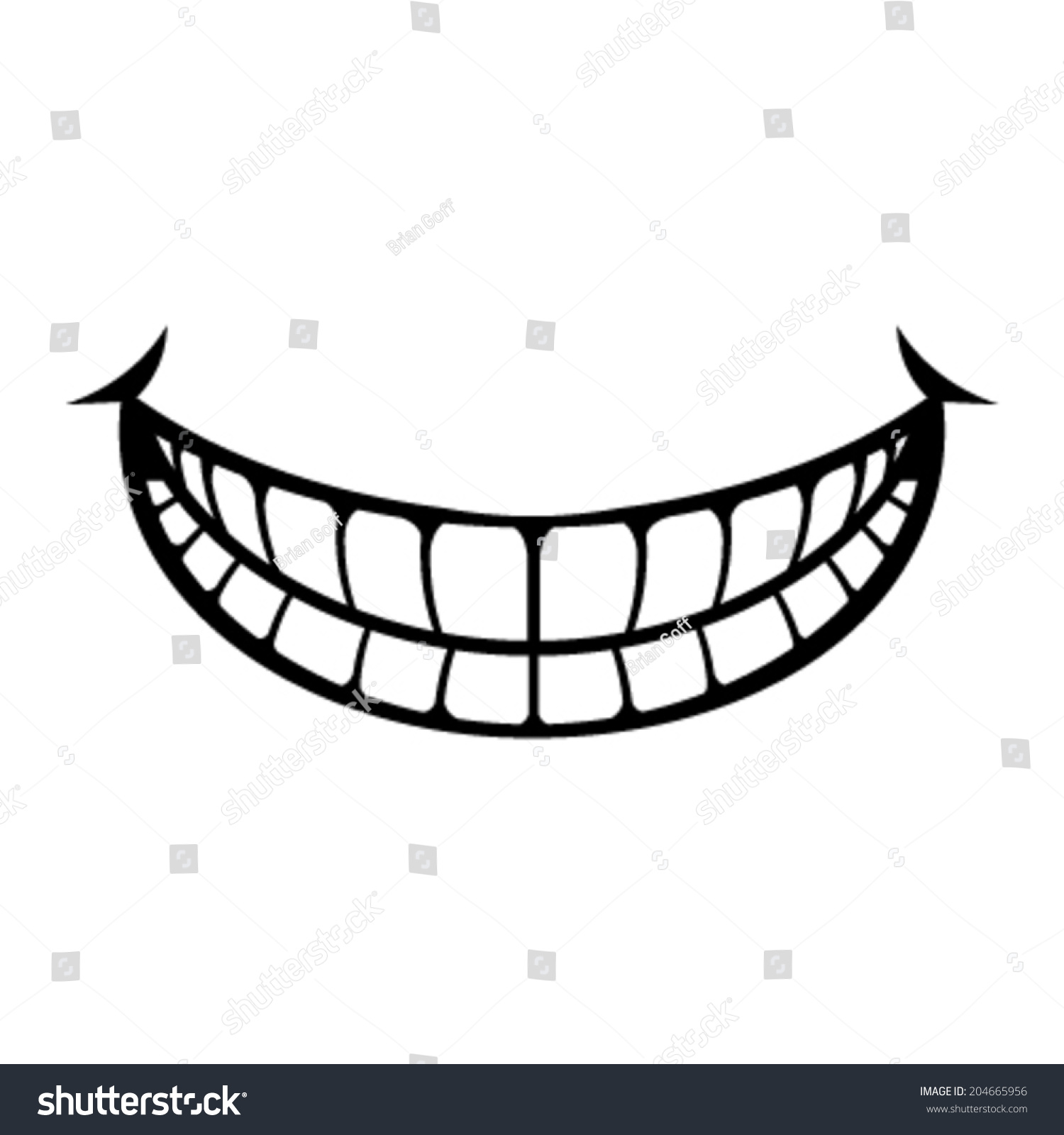 Smile Cartoon Vector Icon Stock Vector 204665956 ...