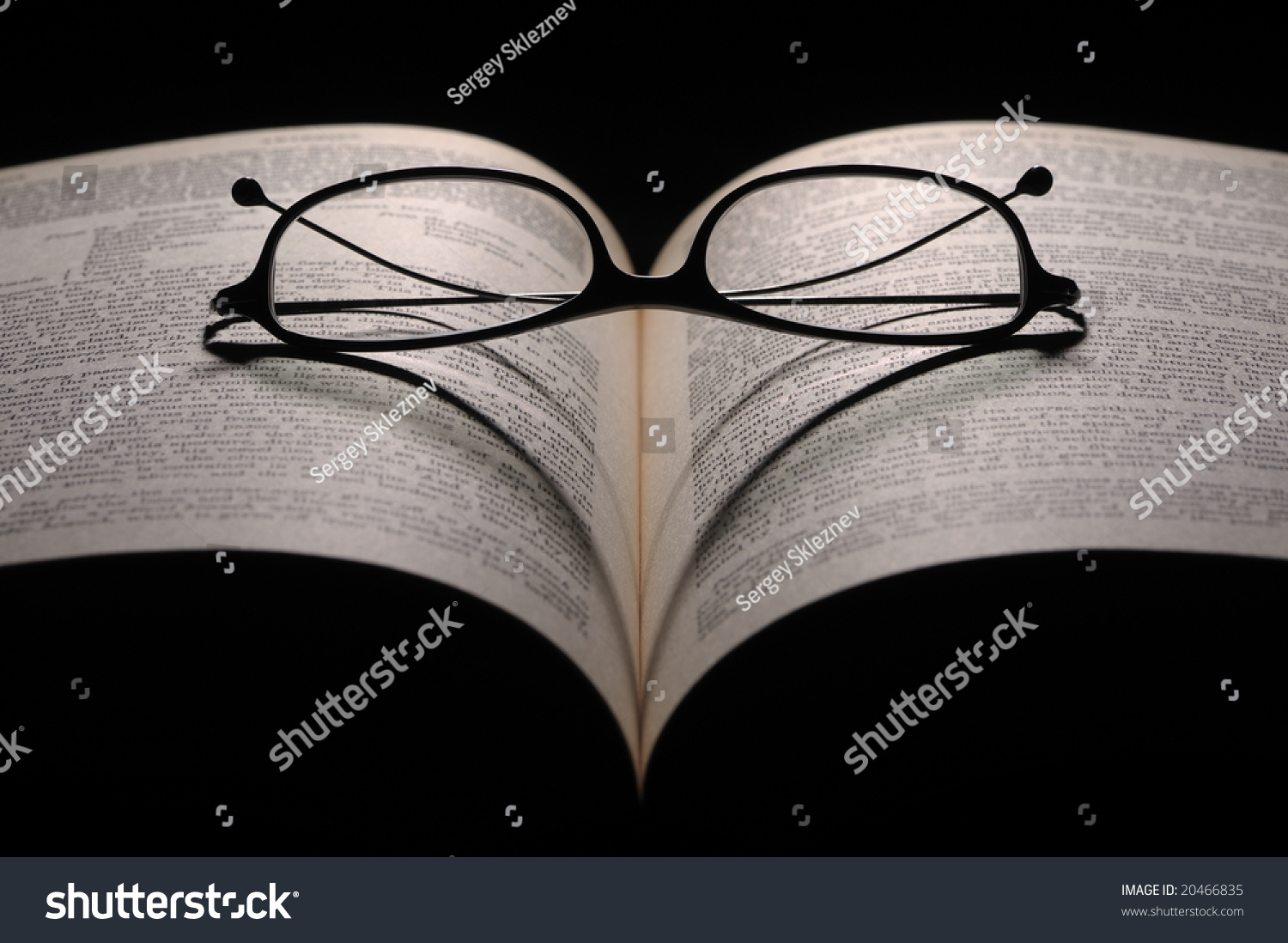 Reading Glasses On Anatomy Guide Stock Photo (Safe to Use) 20466835 ...