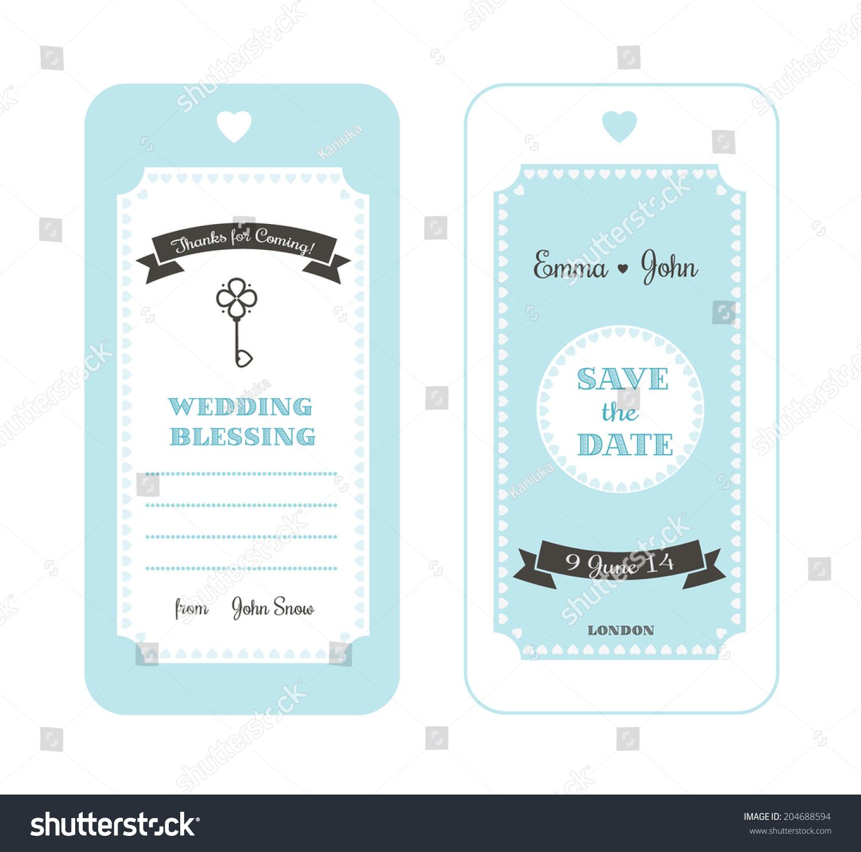 Wedding Invitation Label Stock Vector 204688594 - Shutterstock