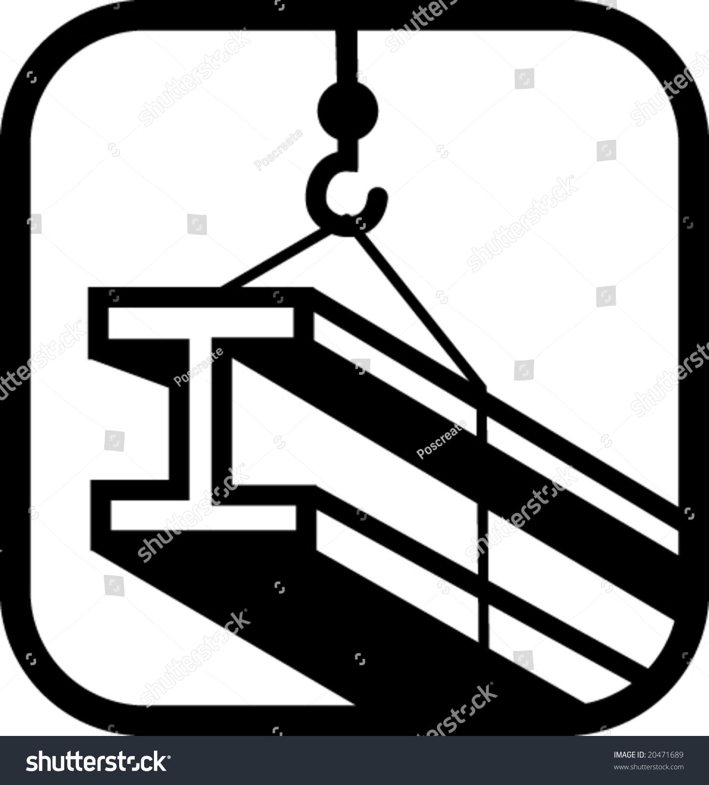 Structural steel logos : Structural steel hoist crane vector stock