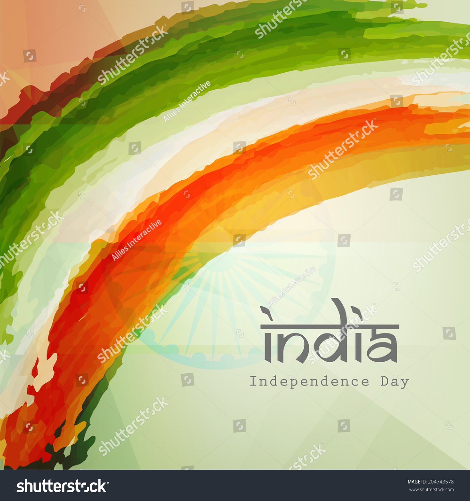Stylish text india on indian national flag colors for Th background color