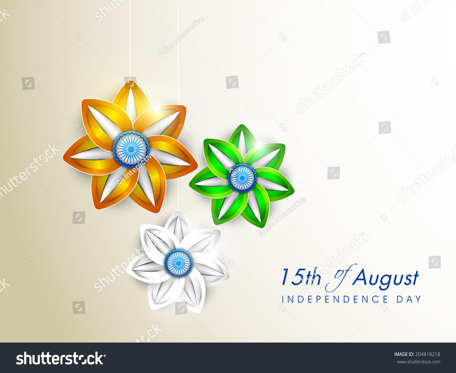 Beautiful flowers in national flag colors on grey for Th background color