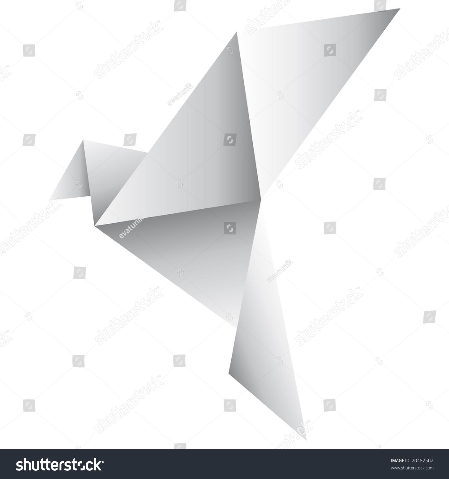 Origami Dove Stock Vector 20482502 - Shutterstock - photo#8