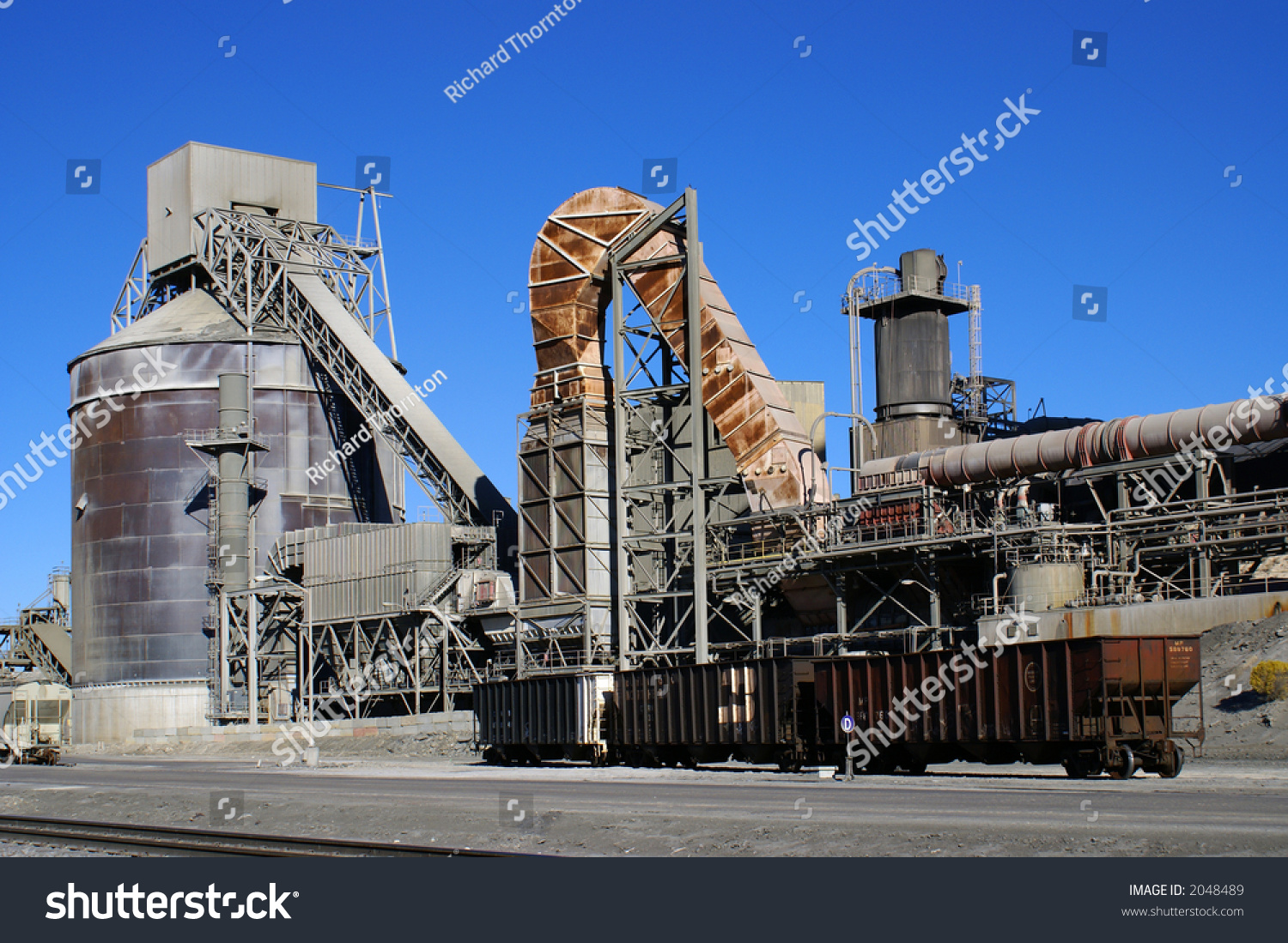 Cement Manufacturing Plants : Cement manufacturing plant stock photo  shutterstock