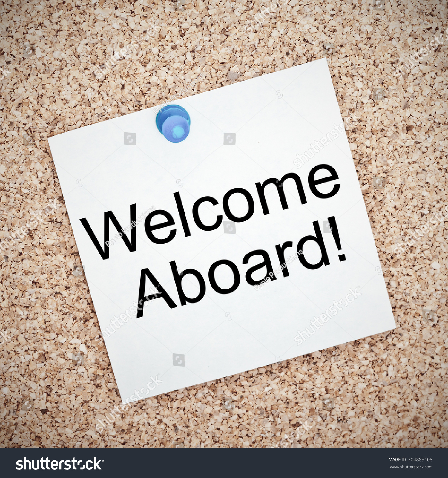Welcome Aboard Typed Onto Yellow Note Stock Photo Edit Now
