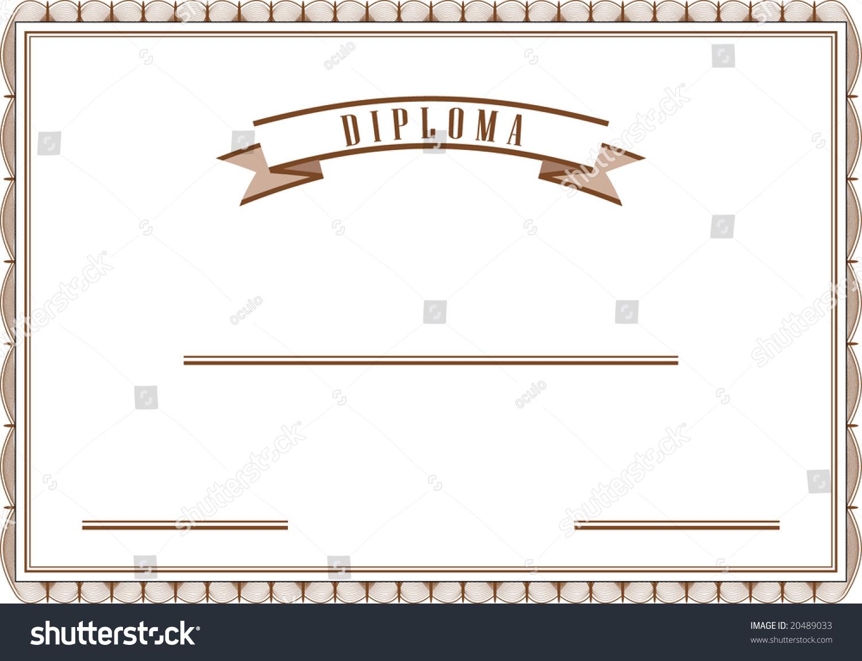diploma vector mode sepia color stock vector shutterstock diploma in vector mode in sepia color