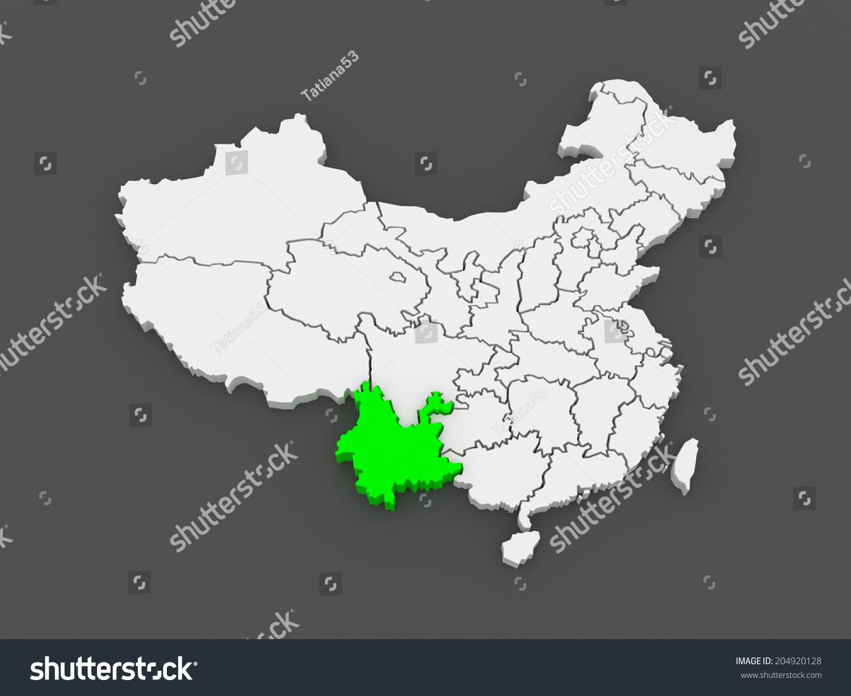 Map Yunnan China 3 D Stock Illustration 204920128 - Shutterstock on kunming china map, xiang river china map, shaoguan china map, tai'an china map, hokkaido china map, london china map, xuchang china map, guizhou china map, qingdao china map, lincang china map, yan'an china map, karamay china map, temple of heaven china map, hainan china map, aksu china map, uyghur people china map, meizhou china map, xinyang china map, benxi china map, goa china map,