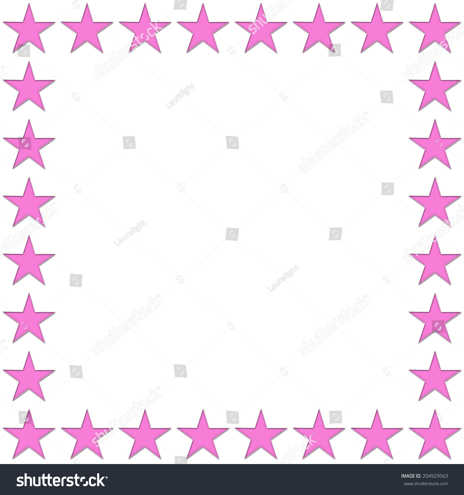 Pink star border pixshark images galleries