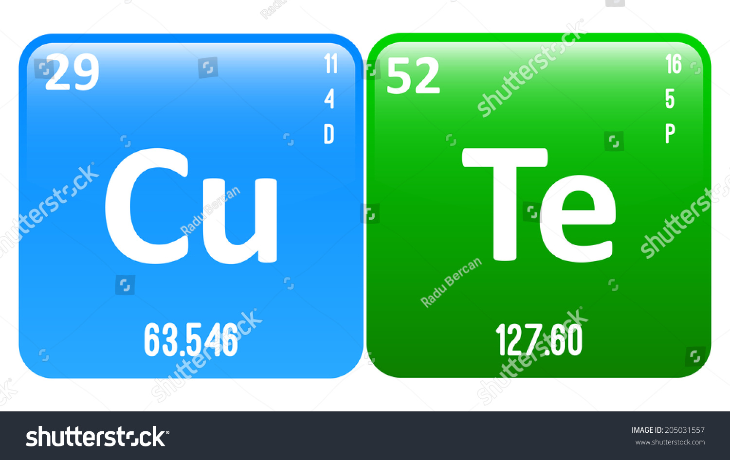 Cute word made periodic table elements stock vector 205031557 cute word made of periodic table elements copper and tellurium gamestrikefo Gallery