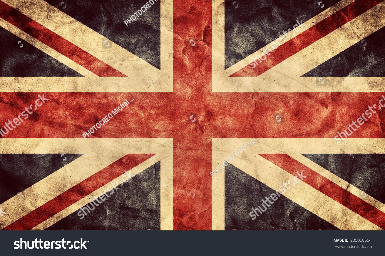 The United Kingdom Or Union Jack Grunge Flag Vintage Retro Style High Resolution