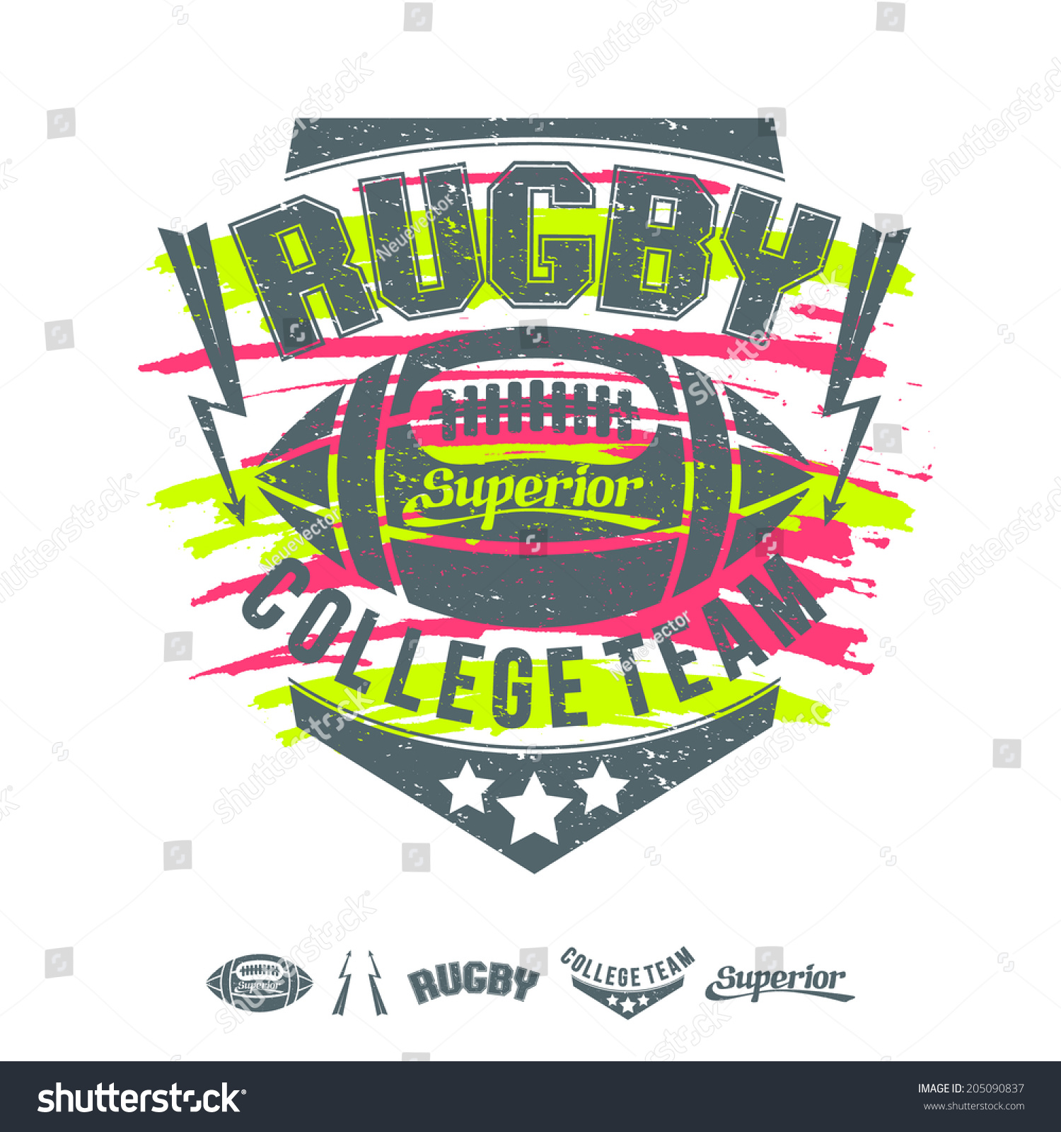 Design t shirt rugby - Rugby Emblem Girl S Colors Graphic Design For T Shirt