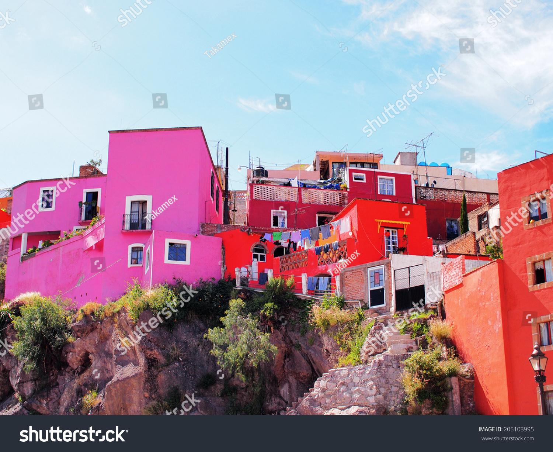 Colorful Houses Guanajuato Central Mexico World Stock Photo (Edit ...