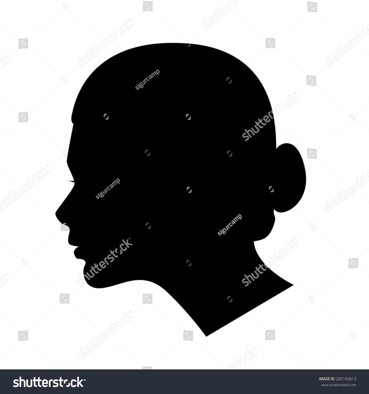 Profile Of A Girl With A Bun Ez Canvas