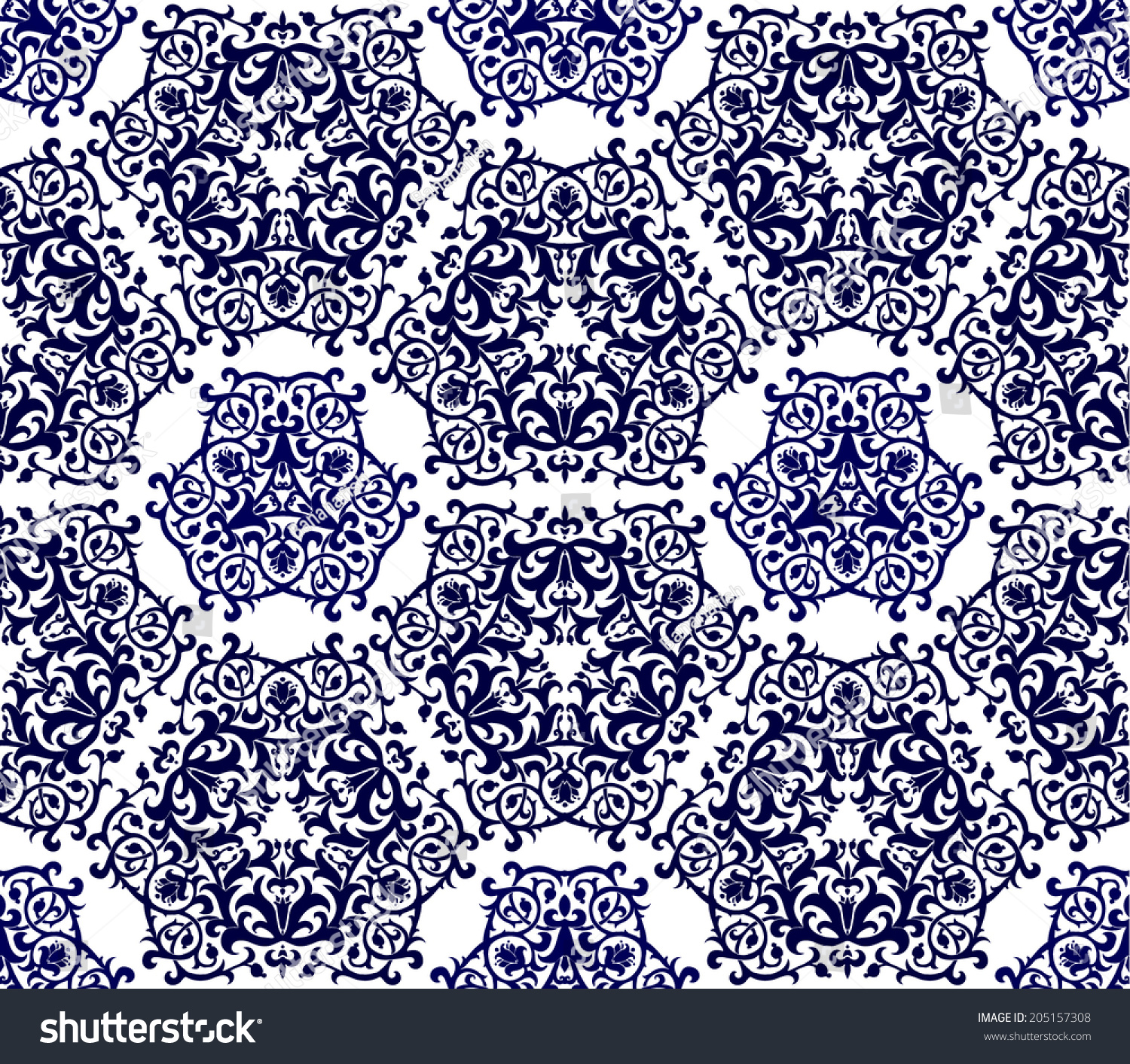 seamless moroccan pattern use background wallpaper stock vector