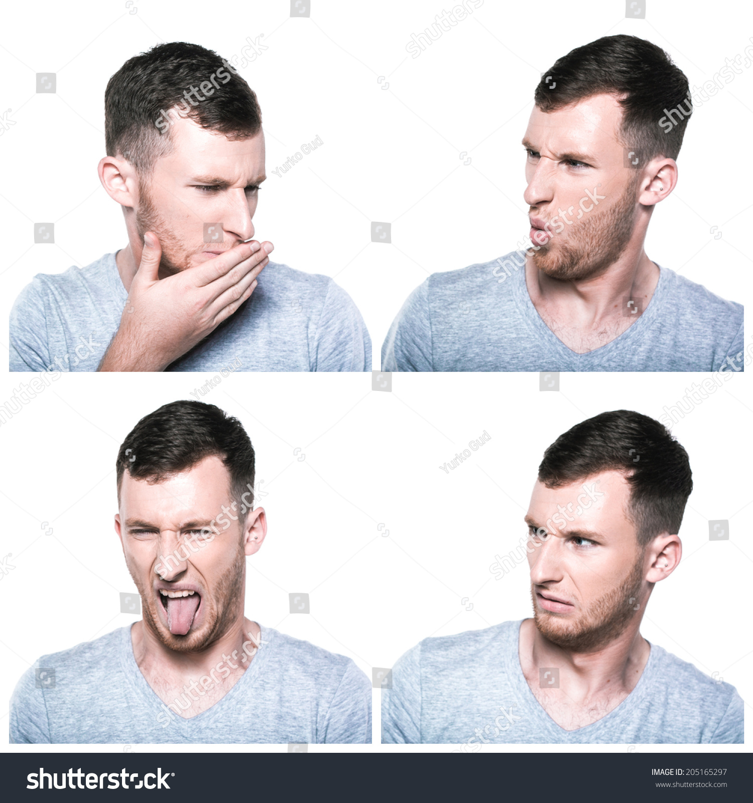 collage disgusted face expressions stock photo edit now 205165297