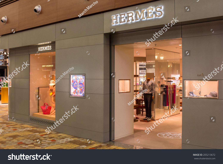 SINGAPORE - JUNE 20: Hermes Store in Changi Airport, Singapore on June 20,