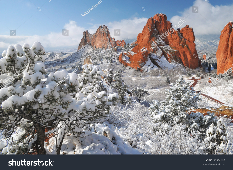 garden gods park near colorado springs stock photo 20524406