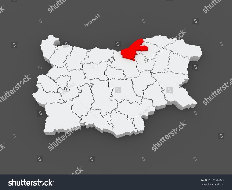 Map Ruse Region Bulgaria 3d Stock Illustration 205284841 Shutterstock