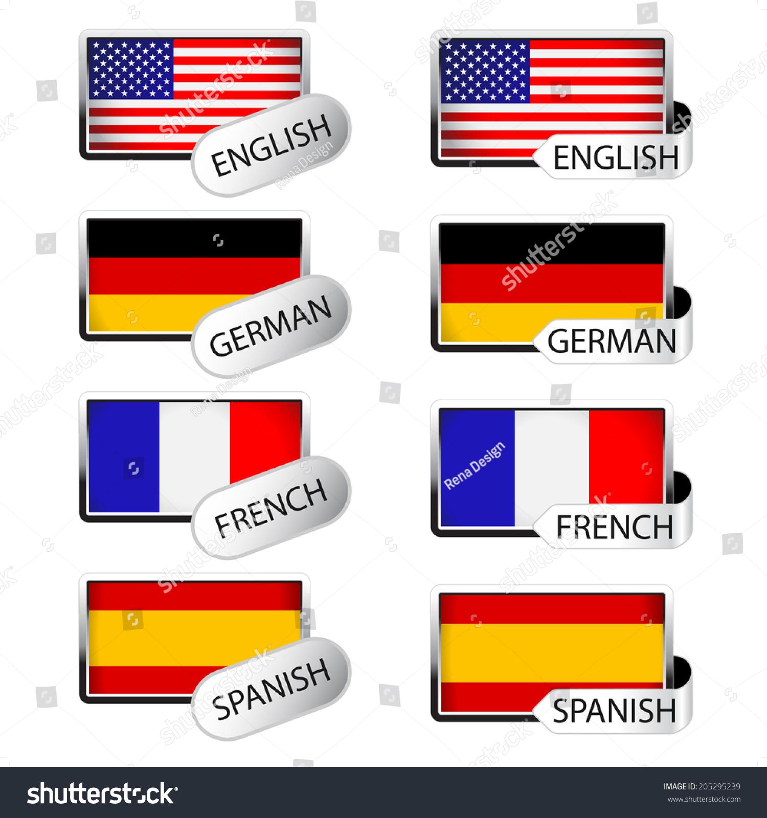 Spanish to english - Language Pointer For Web Flags English German French Spanish